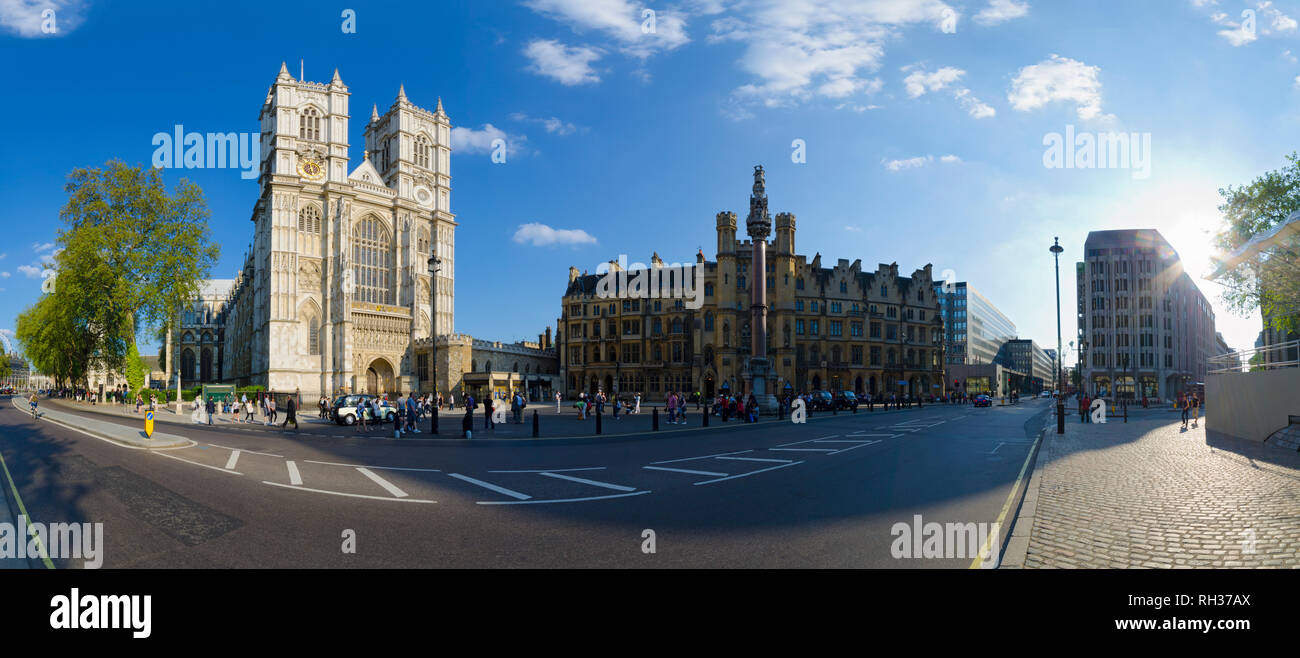 UK, England, London, Westminster Abbey, Great West Door - Stock Image