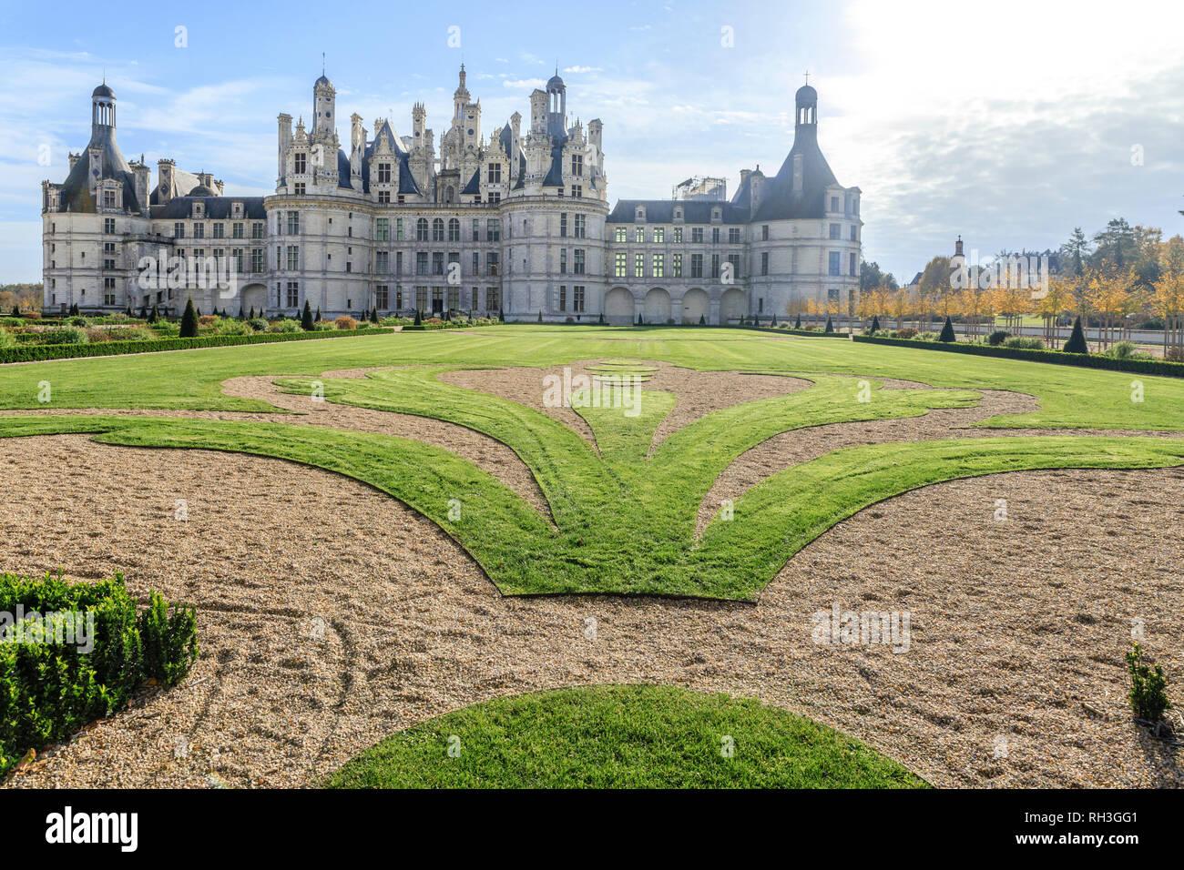 France Loir Et Cher Chambord Chambord Castle The French Formal