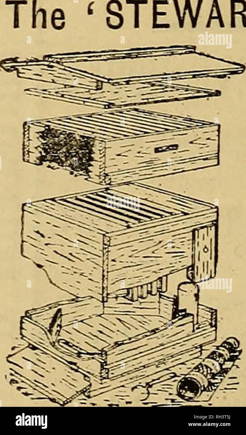 . British bee journal & bee-keepers adviser. Bees. THE BRITISH BEE JOURNAL. [June 23, 1892. Have arranged to Pay Carriage on BEE FURNITURE Exceeding 25/- in Value. LISTS FREE. STEAM JOINERY WORKS, ST. NEOTS. TIE-OVER HONEY JARS, l-lb., 12s. per Gross. FREDK. PEARSON, Stockton Heath, WARRINGTON. TTALIAN BEES, QUEENS, SWARMS. 1 HIVES with Fixed and Movable Combs. HONEY and WAX at reasonable rates. Price Lists sent Post free. Address: L. R. Lambertenghi & Co., Caravaggio, Italy. Yorkshire Agricultural Society. Patron: H.R.H. The Pkince of Wales, K.G. President: The Rt. Hon. J. Lowther, M. - Stock Image