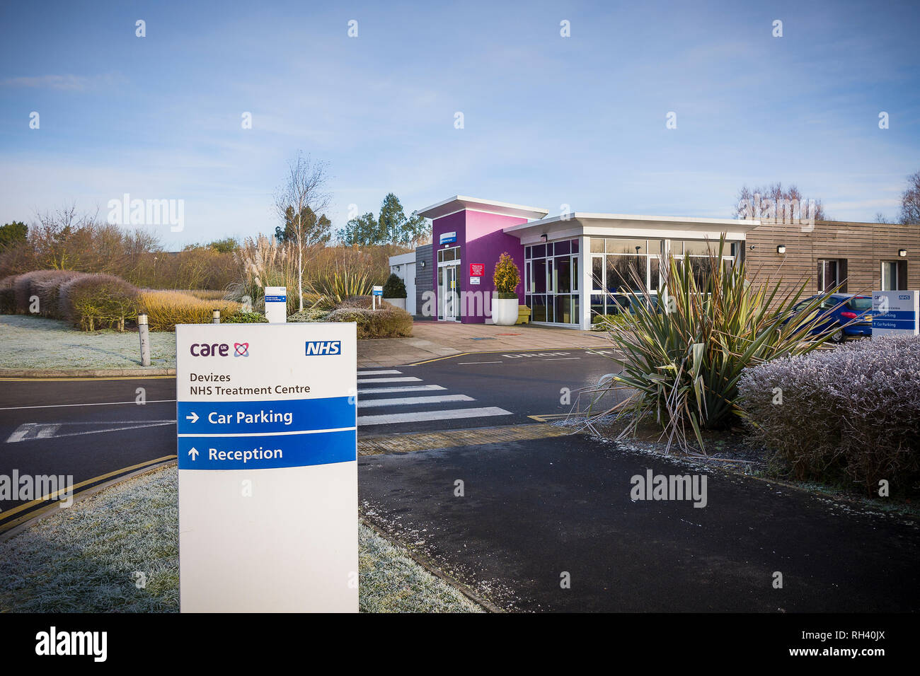 Devizes NHS Treatment Centre located on the eastern outskirts of the Wiltshire town in England UK - Stock Image