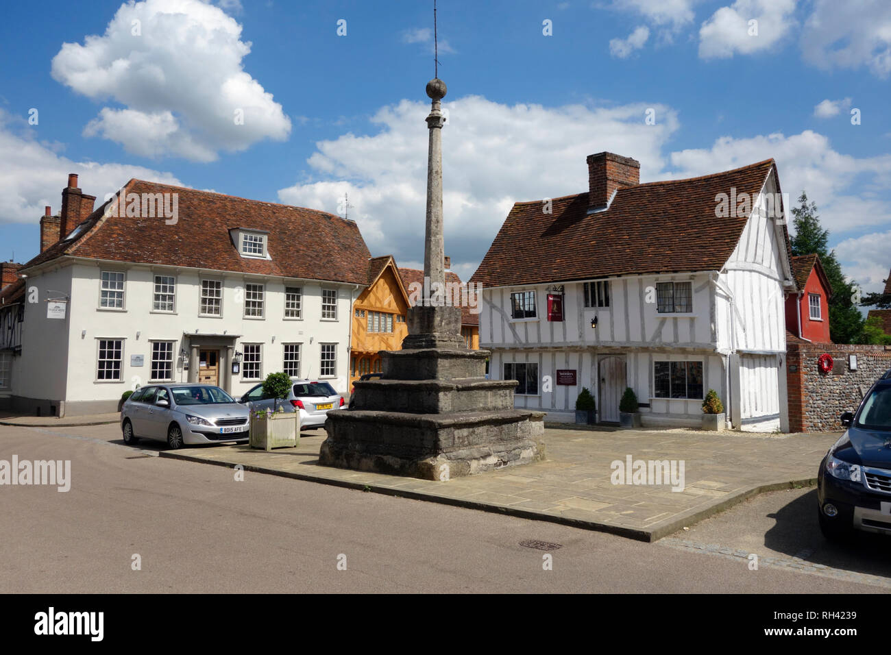 Lavenham Market Place, Suffolk - Stock Image