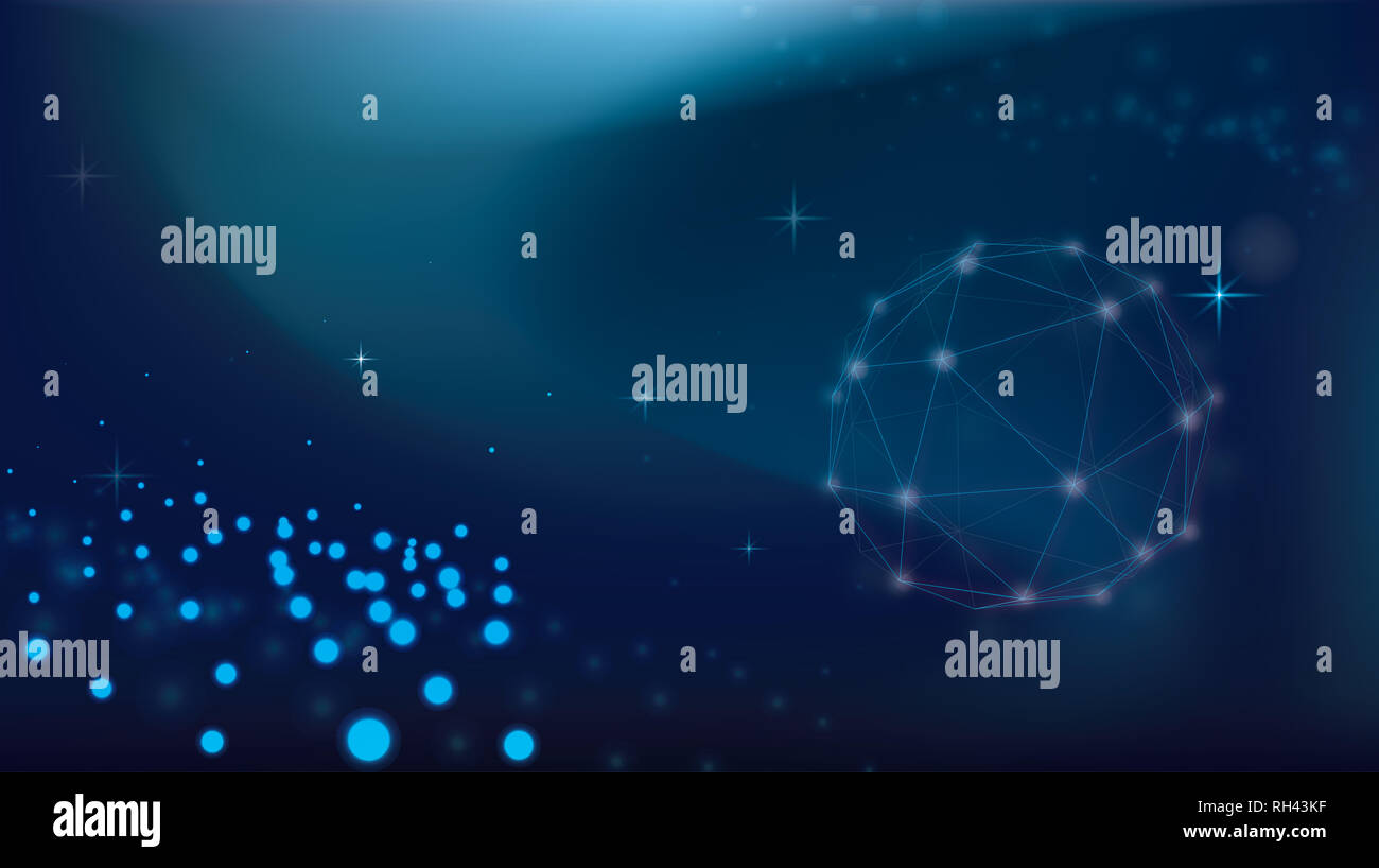 Galaxy universe futuristic background design for Sci-fi, Science or technology and cyberspace wallpaper. - Stock Image