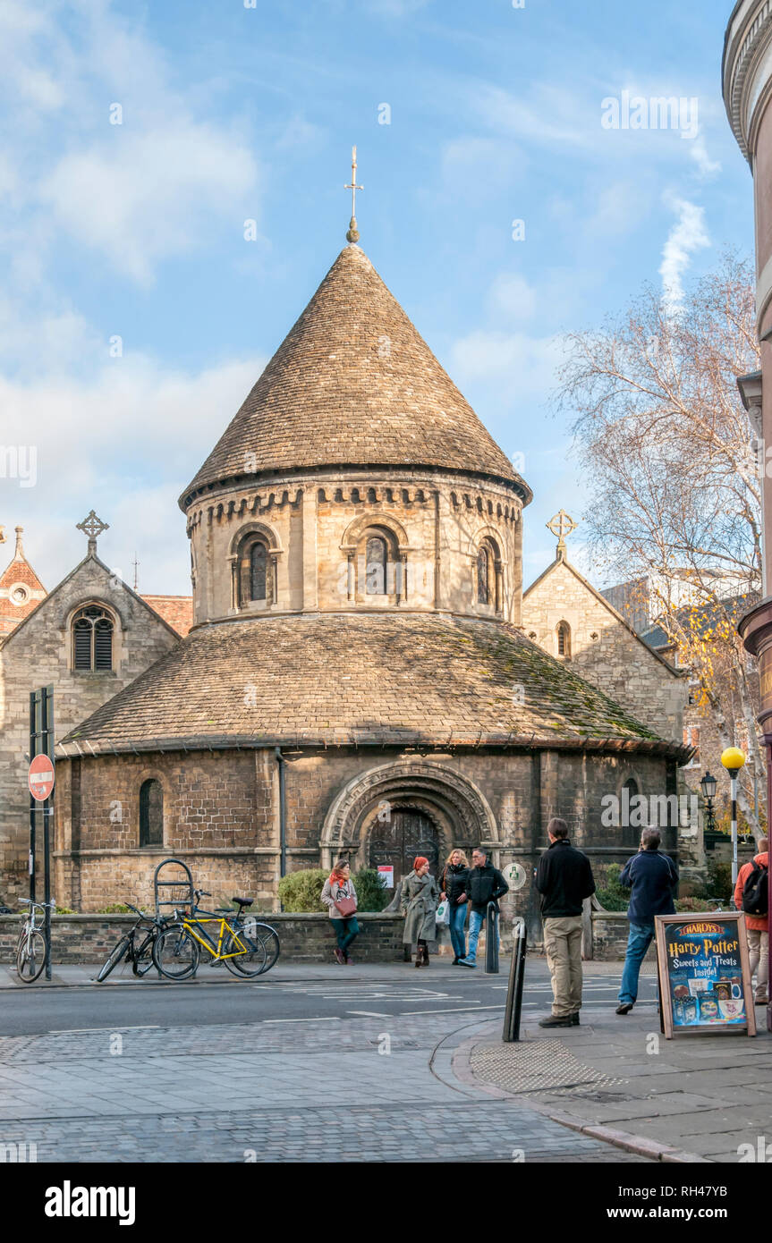 The Church of the Holy Sepulchre in Cambridge, usually known as The Round Church. - Stock Image