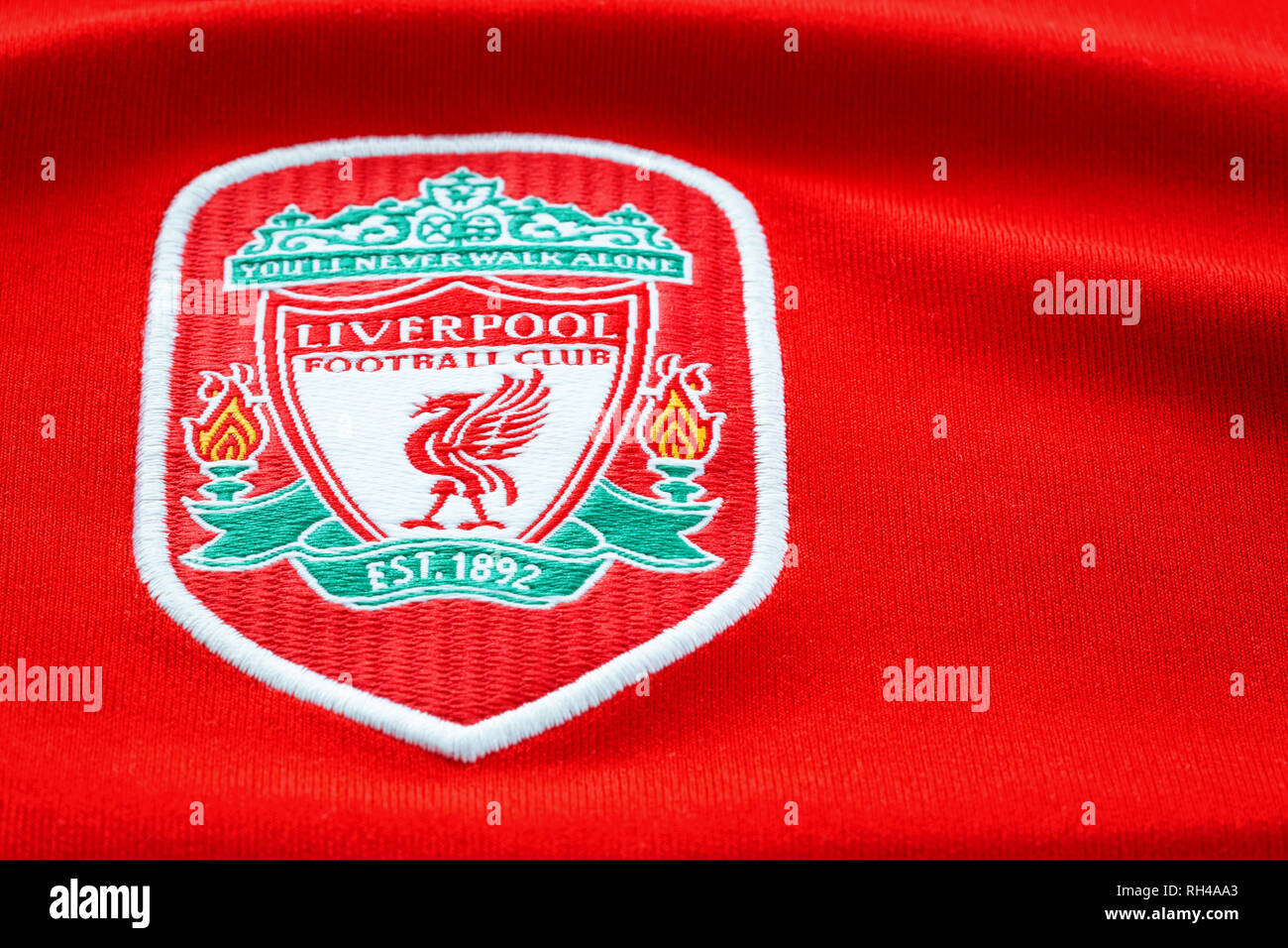 Liverpool Fc Badge Stock Photos & Liverpool Fc Badge Stock