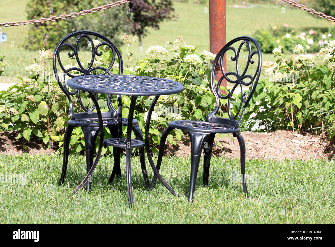 Wrought Iron Garden Furniture High Resolution Stock Photography