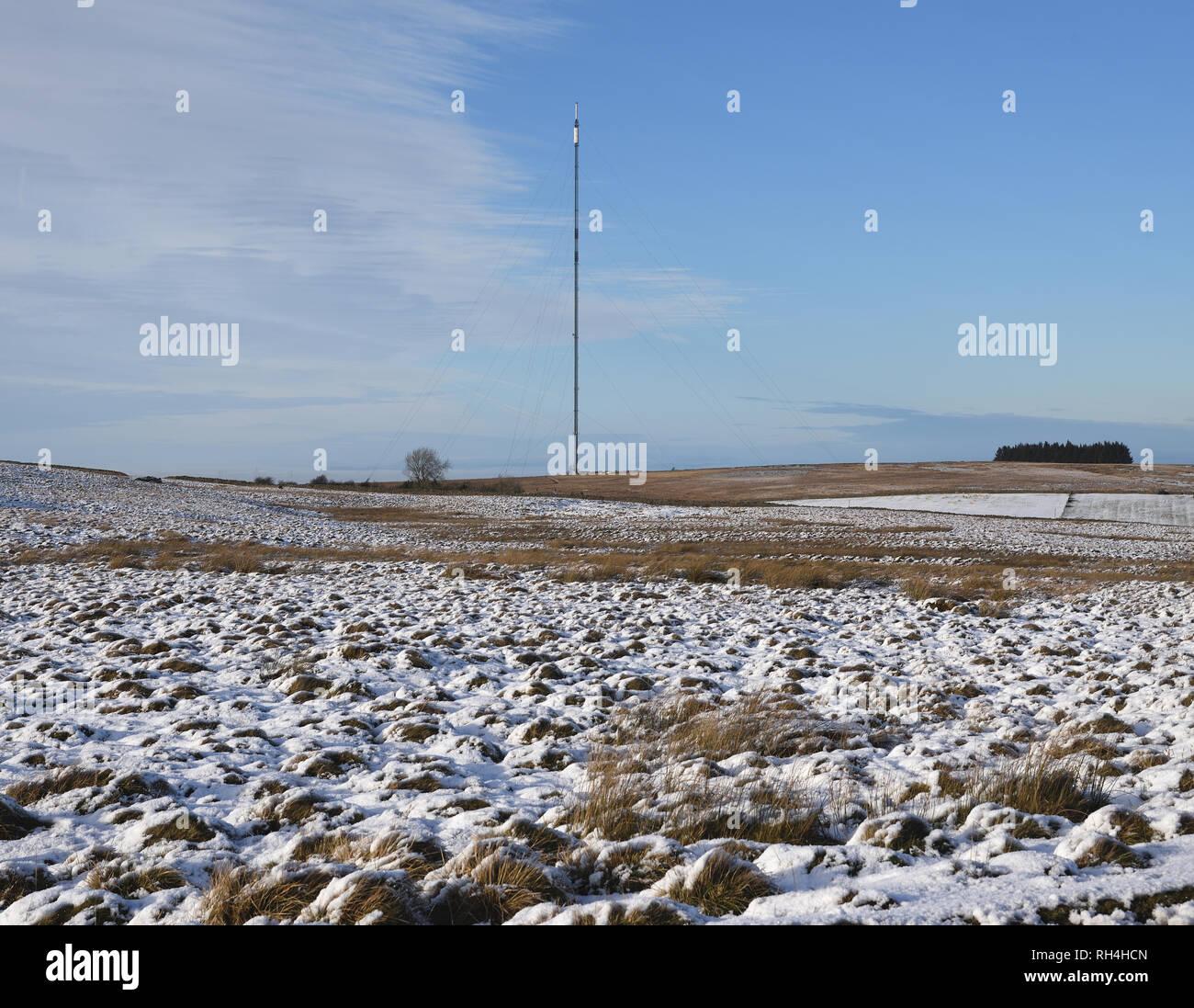Caldbeck transmitting station, Cumbria, UK - Stock Image