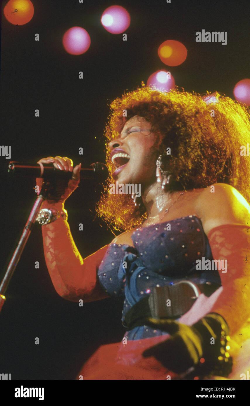 CHAKA KHAN American singer about 1987. - Stock Image