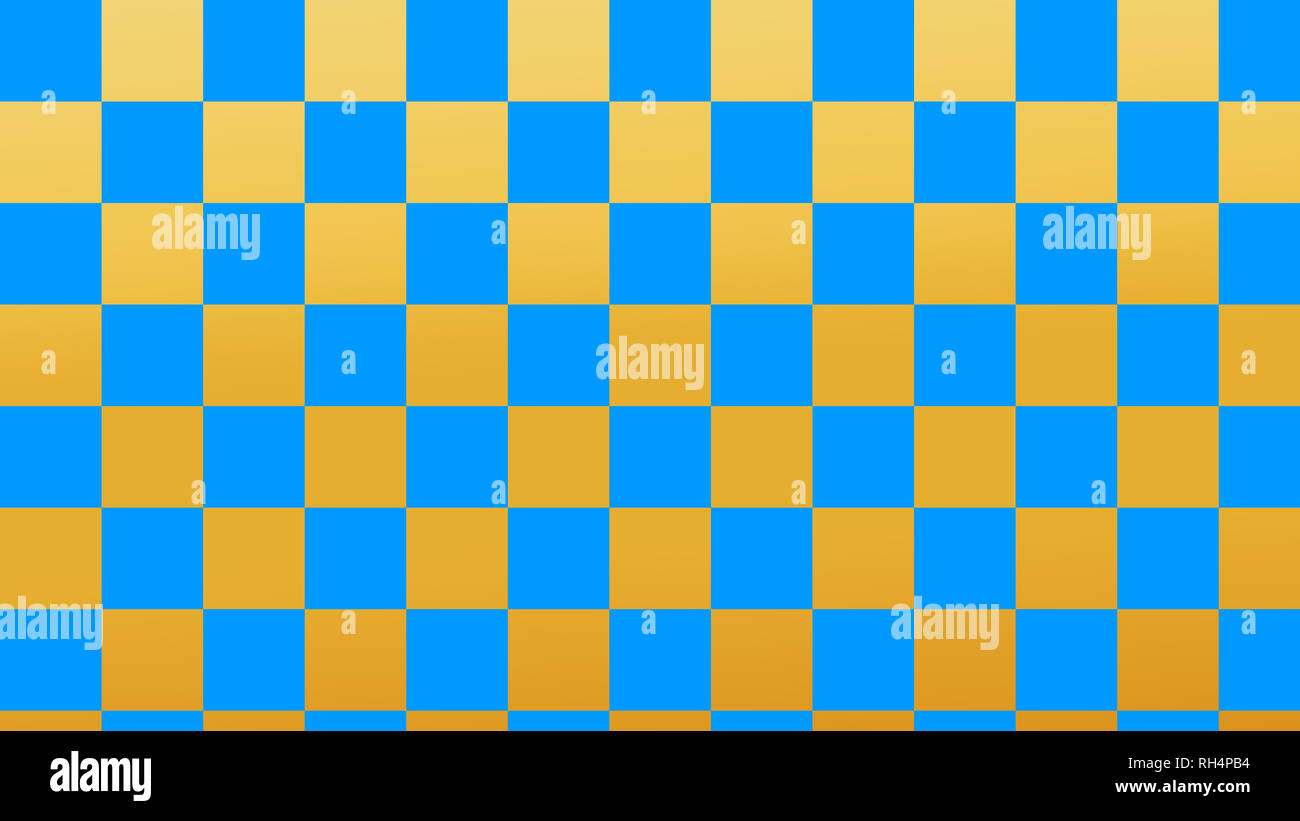 checkered fire & black squares light fire and deep sea seamless pattern Stock Photo