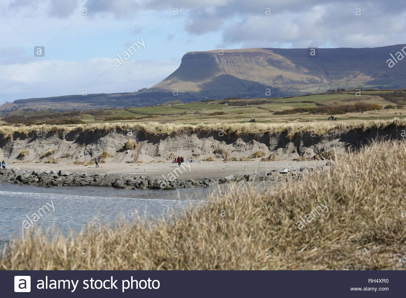 A view of Ben Bulben in Sligo, Ireland on a beautiful day - Stock Image