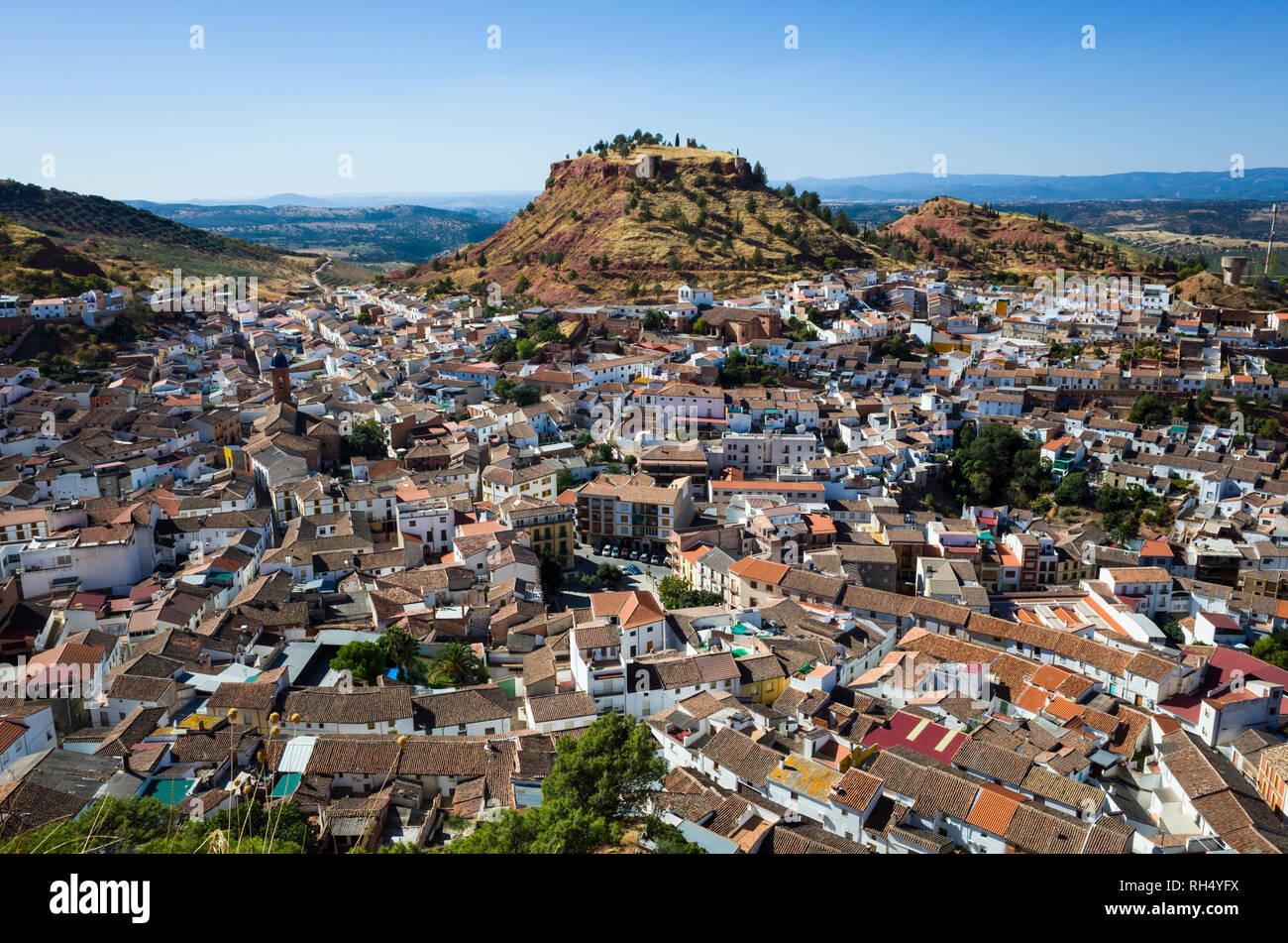 Overhead of Santisteban del Puerto, Jaen province, Andalusia, Spain. Stock Photo