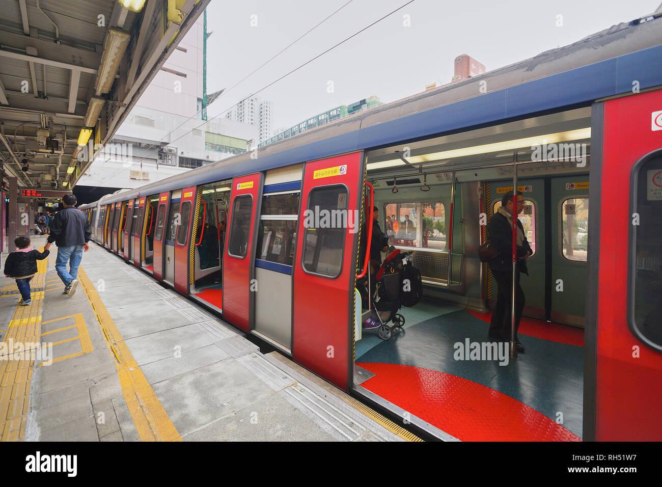HONG KONG - DECEMBER 26, 2015: The Mass Transit Railway