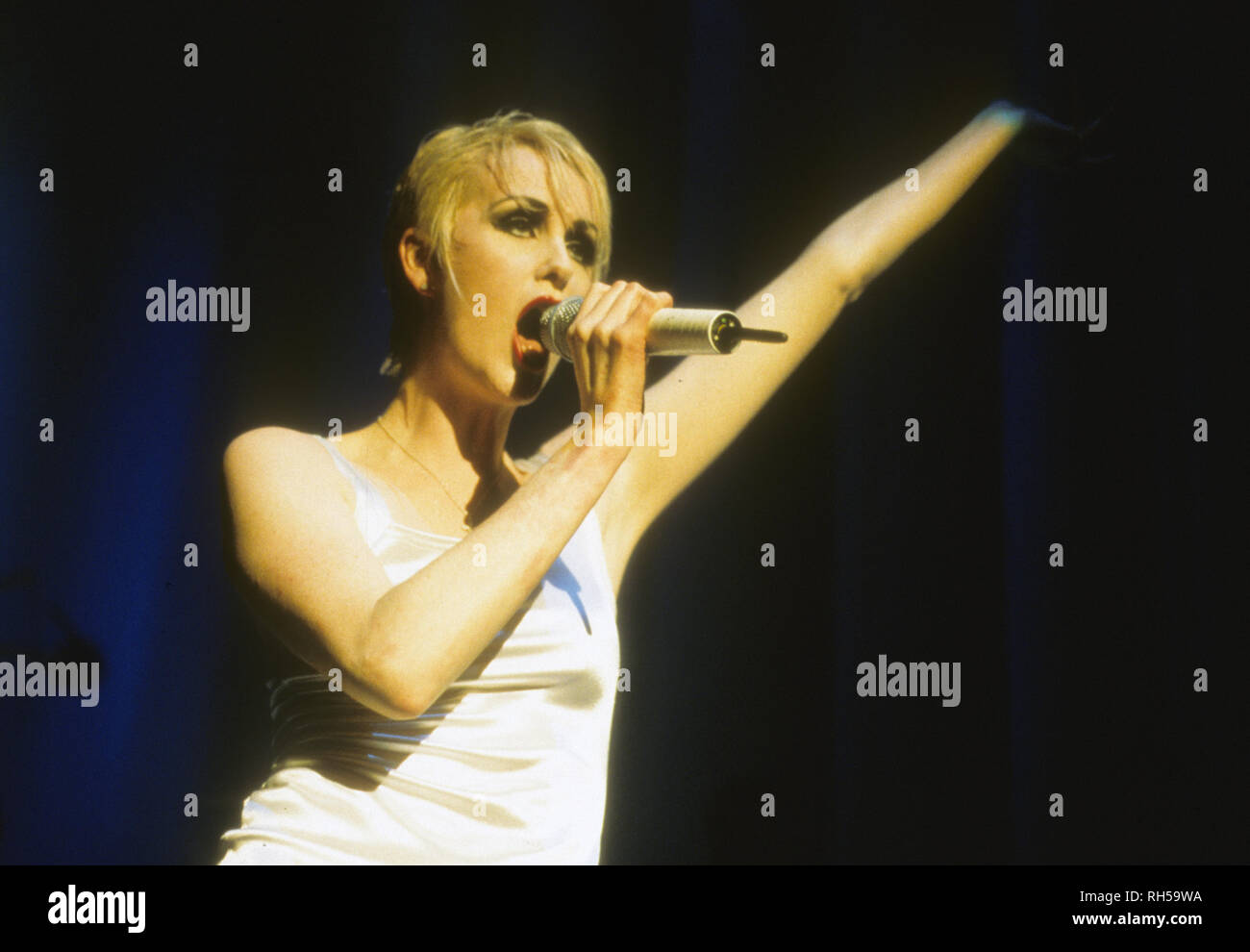 THE HUMAN LEAGUE English pop group about 1982 with Susan Ann Sulley - Stock Image