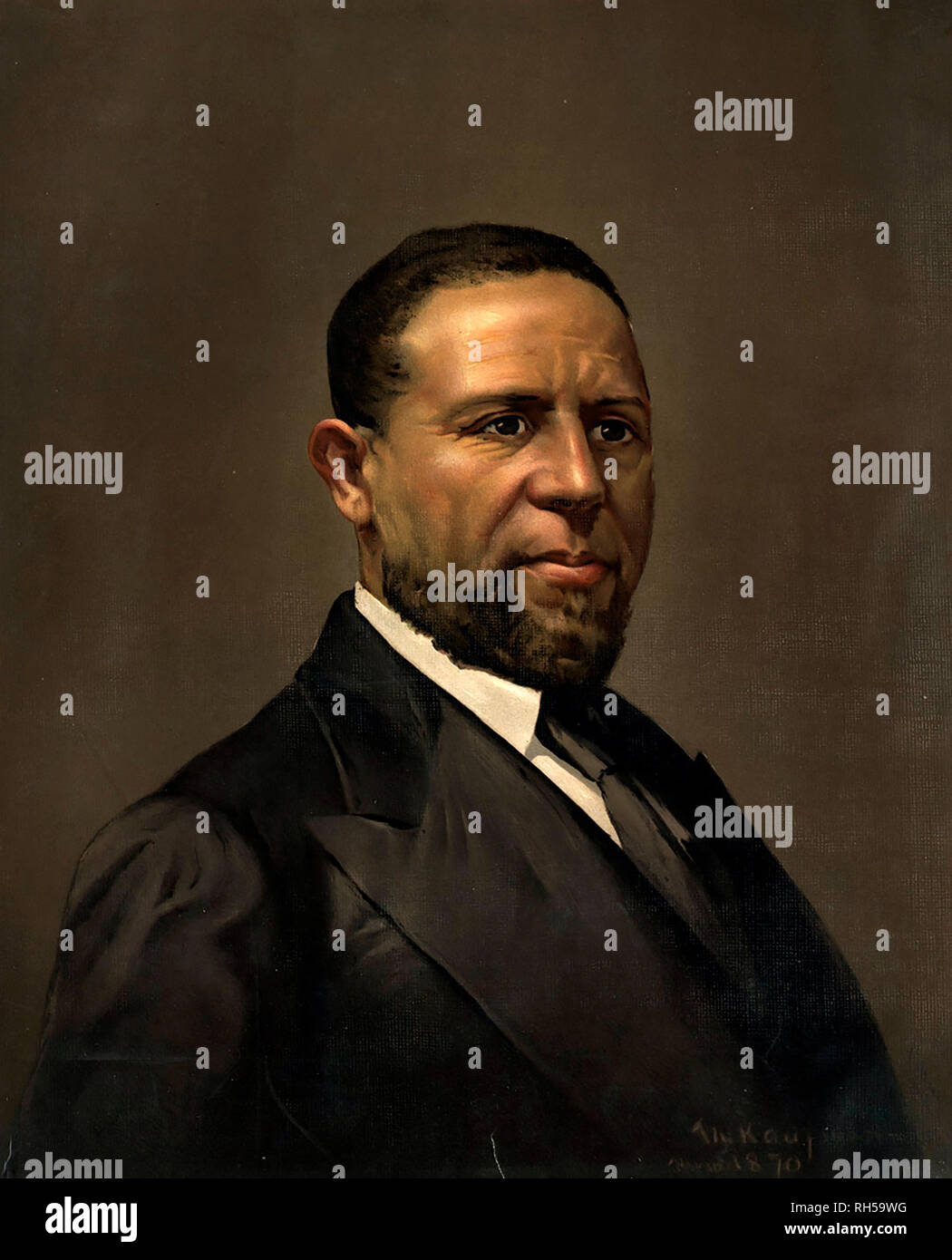 HIRAM REVELS (1827-1901) American Republican Senator, Methodist minister - Stock Image