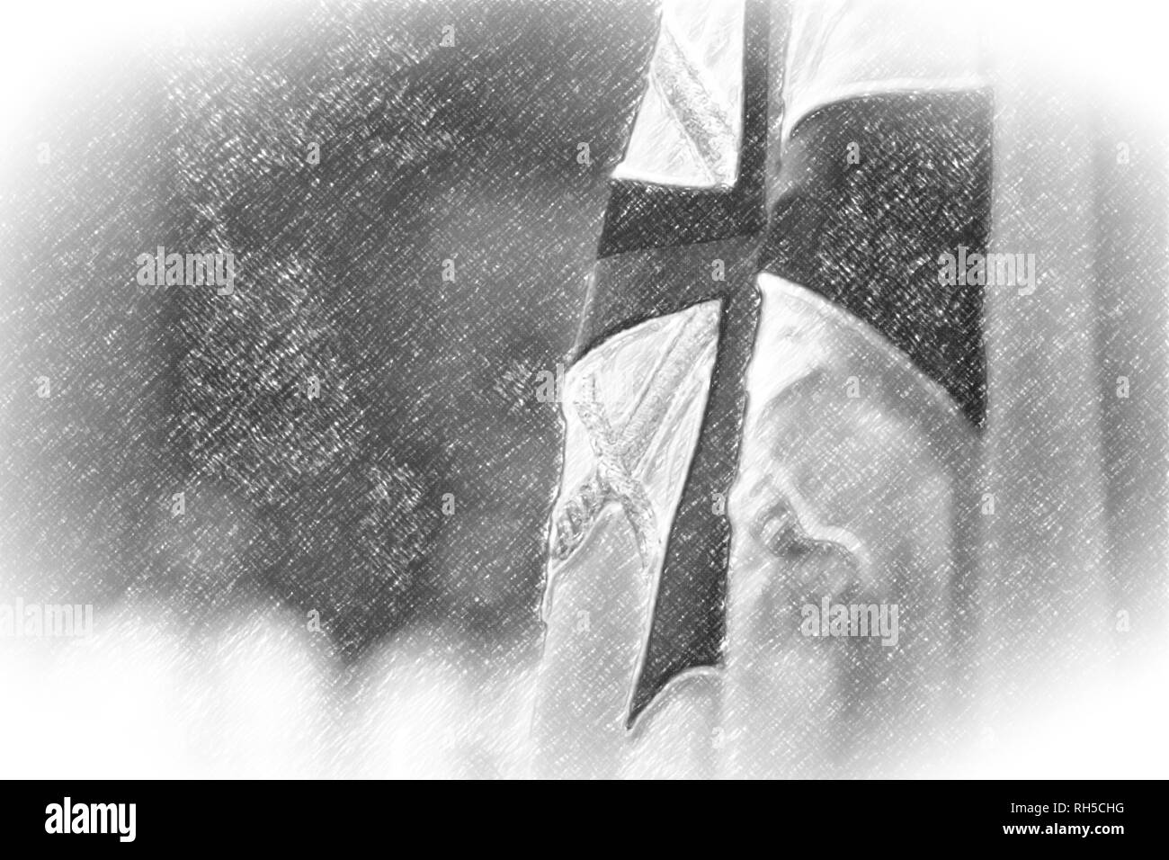 Knights Templars Black and White Stock Photos & Images - Alamy