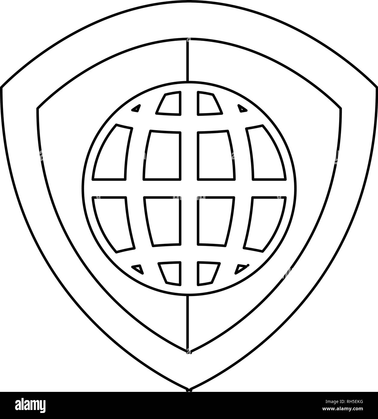 shield protection world property copyright of intellectual vector illustration - Stock Vector
