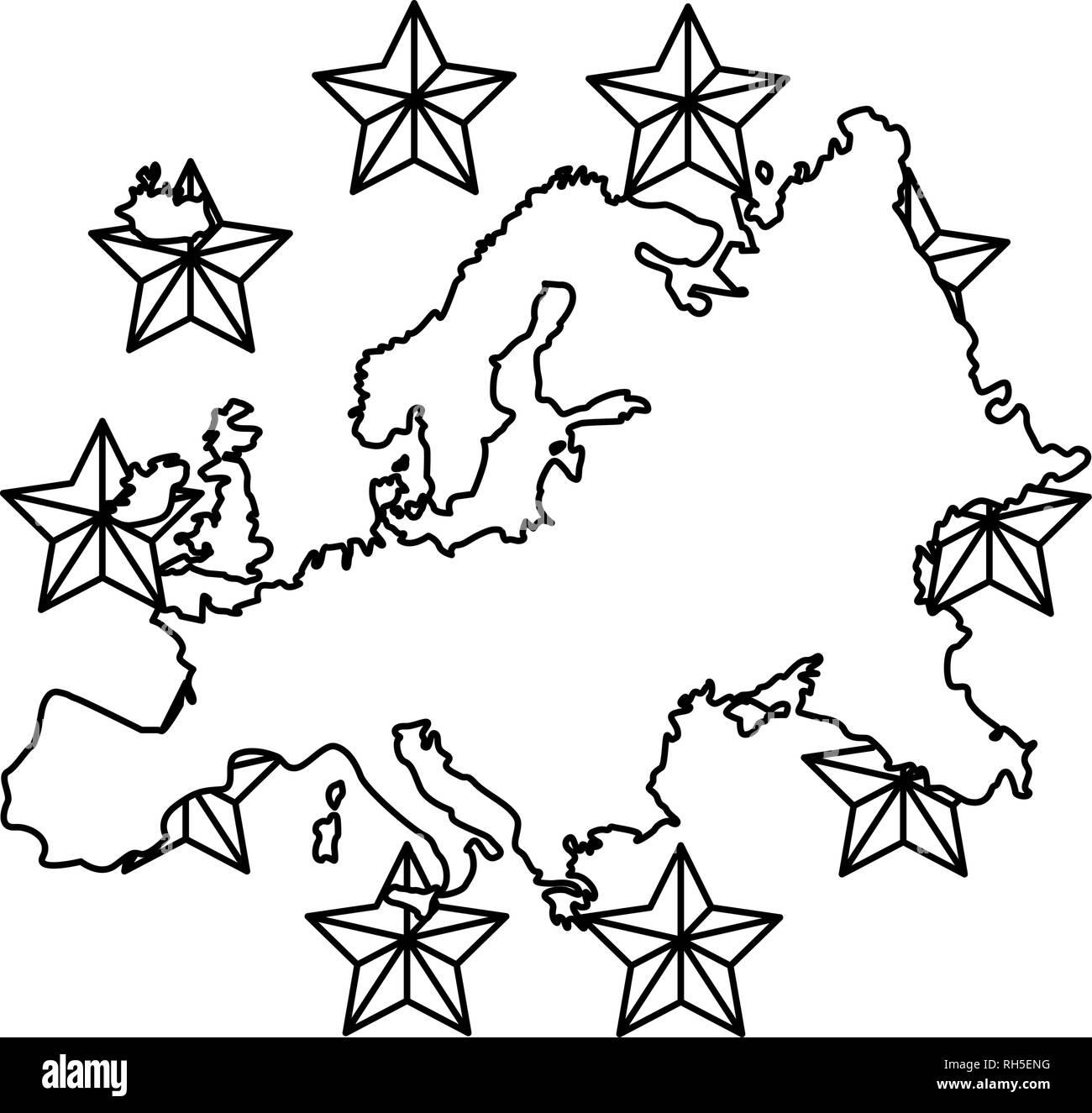 european union copyright of intellectual vector illustration - Stock Image