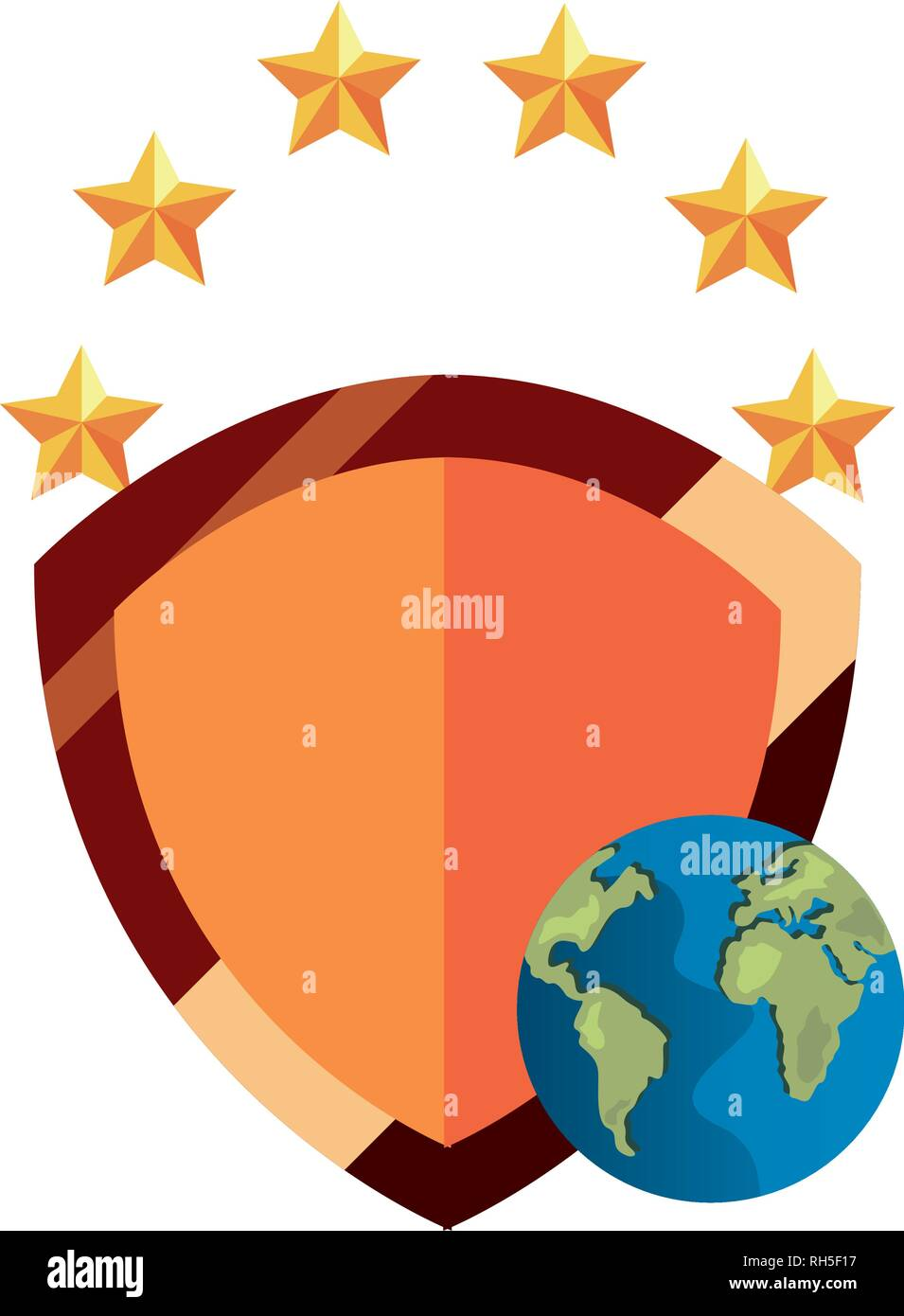 shield protection world copyright of intellectual vector illustration - Stock Vector