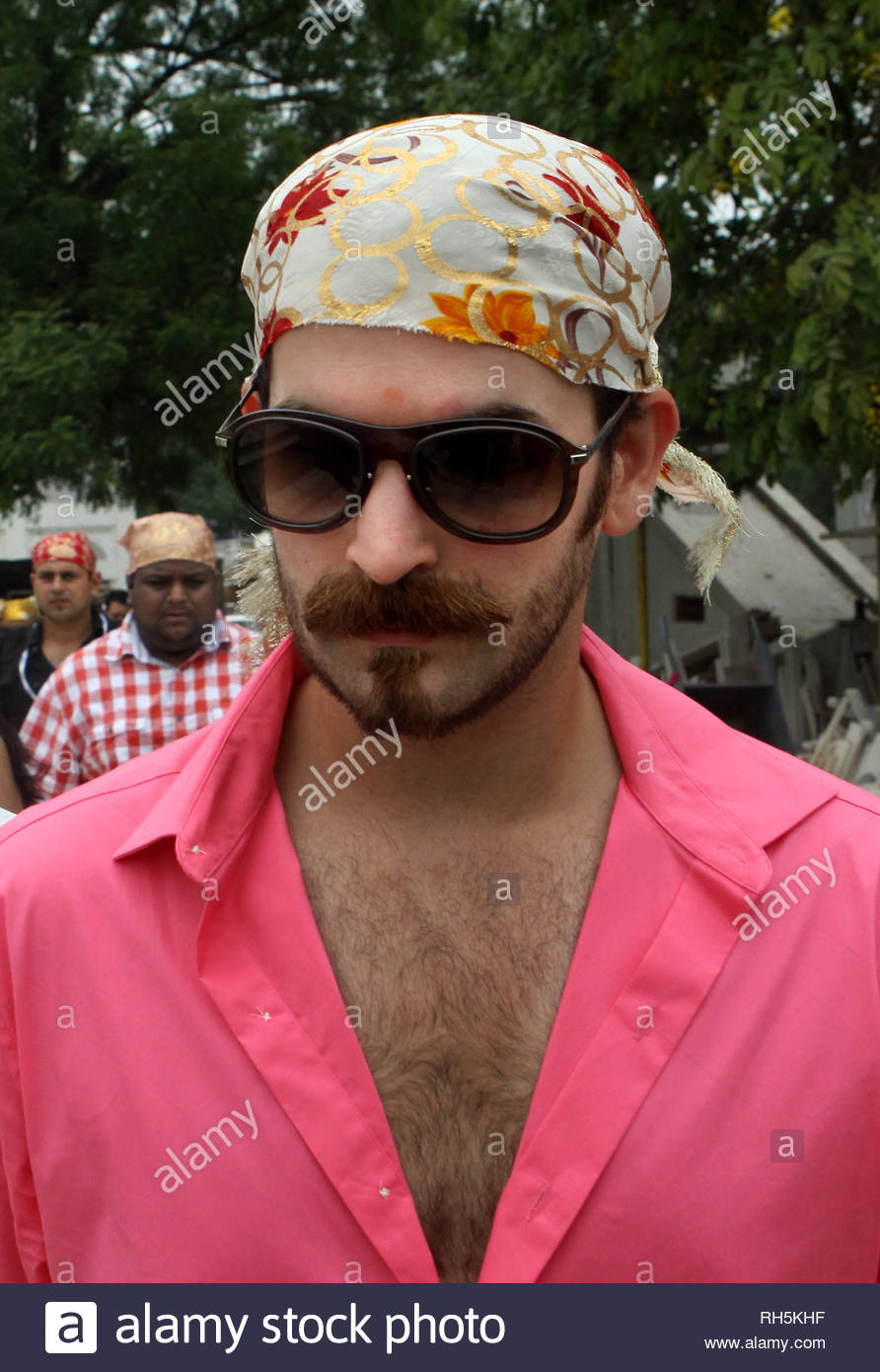 Bollywood actor Neil Nitin Mukesh arrives to offer prayer at the Bangla Saheb Gurudwara for the success of his latest movie Shortcut Romeo, in New Delhi, India on June 18, 2013. Shortcut Romeo, scheduled for release on June 21, is a romantic crime thriller produced by Susi Ganeshan which is a Hindi remake of the filmmakerÕs own Tamil film Thiruttu Payale, starring Neil Nitin Mukesh, Puja Gupta and Ameesha Patel. The film was screened at Marche du Film at Cannes Film Festival in May 2013. (Imtiyaz Khan) Stock Photo