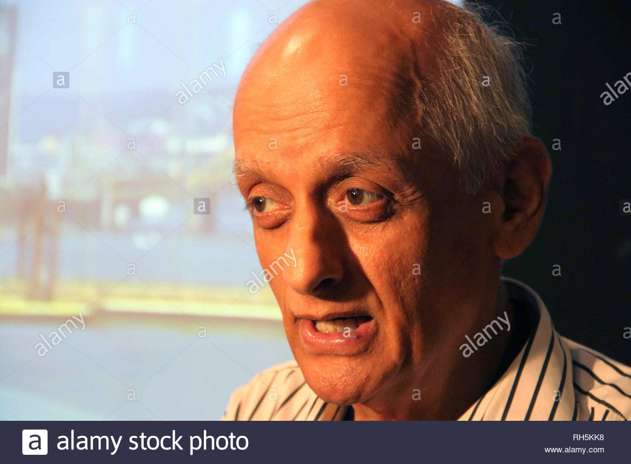 Bollywood filmmaker Mukesh Bhatt during a panel discussion on 'Building Bridges between creative communities & and priorities of our time' in Mumbai, India on July 18, 2013. (Amol Kamble) - Stock Image