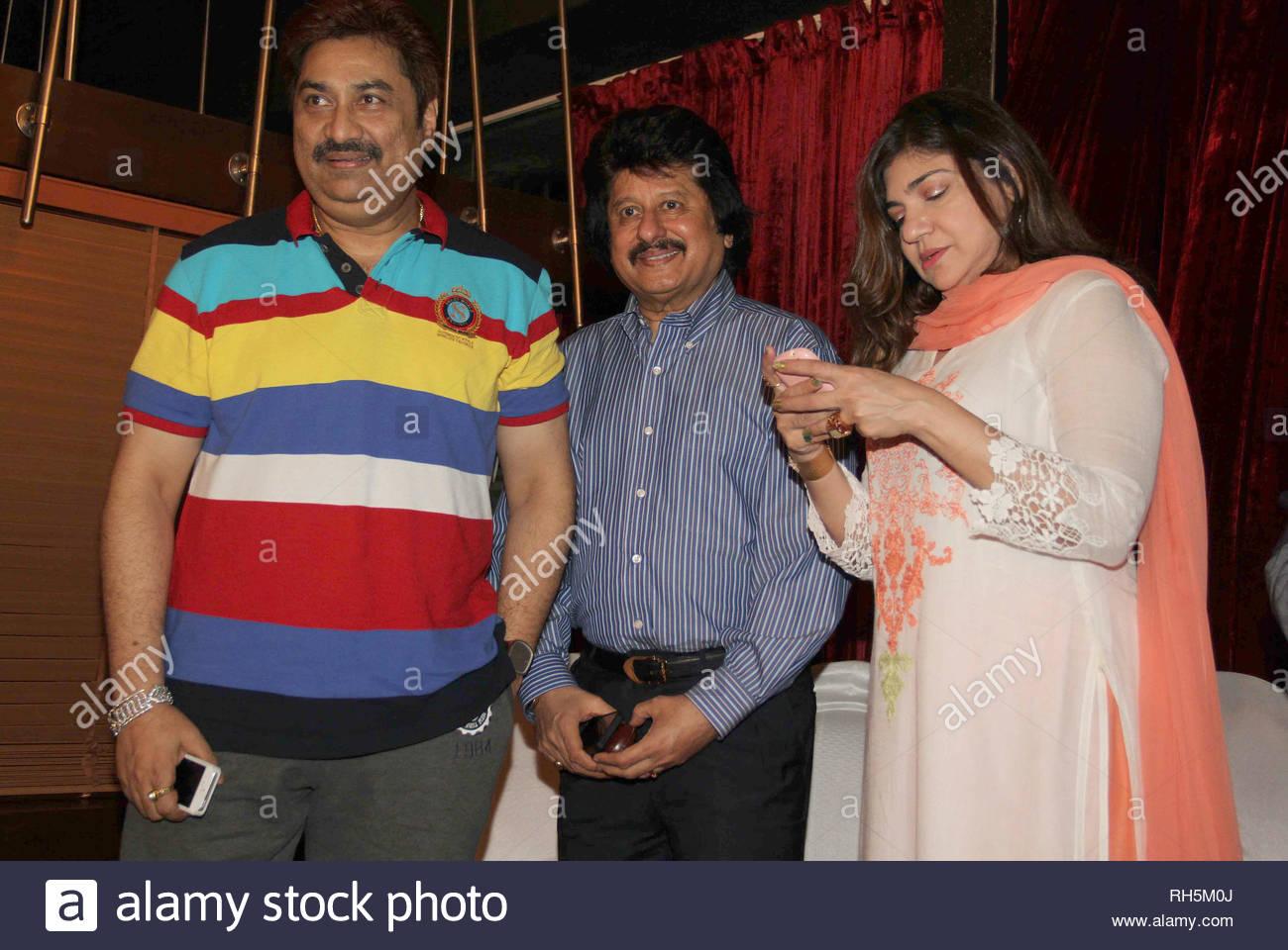 01eddc78a8fe Singers Kumar Sanu, Pankaj Udhas and Alka Yagnik during the ...