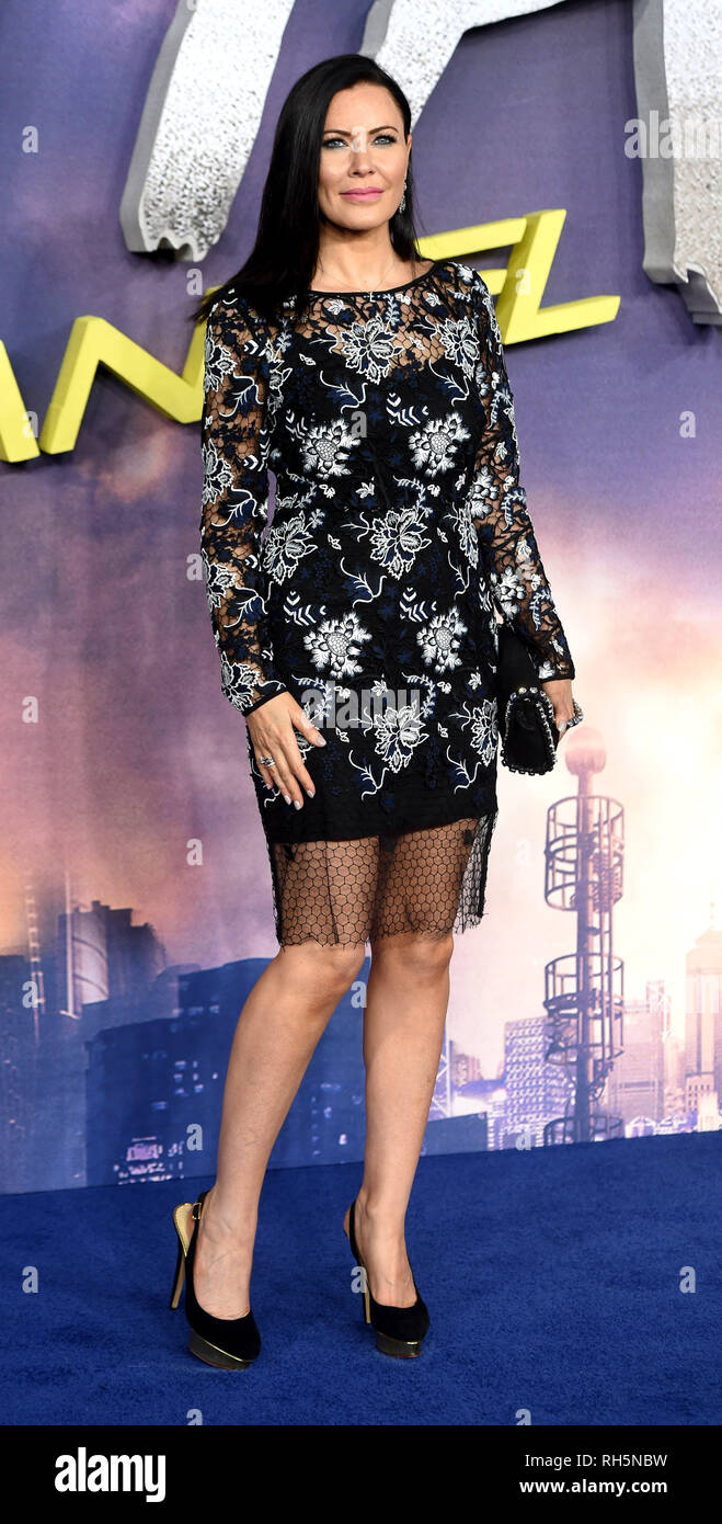 Photo Must Be Credited ©Alpha Press 079965 31/01/2019 Linzi Stoppard at the Alita Battle Angel World Movie Premiere held at the Odeon Leicester Square in London - Stock Image