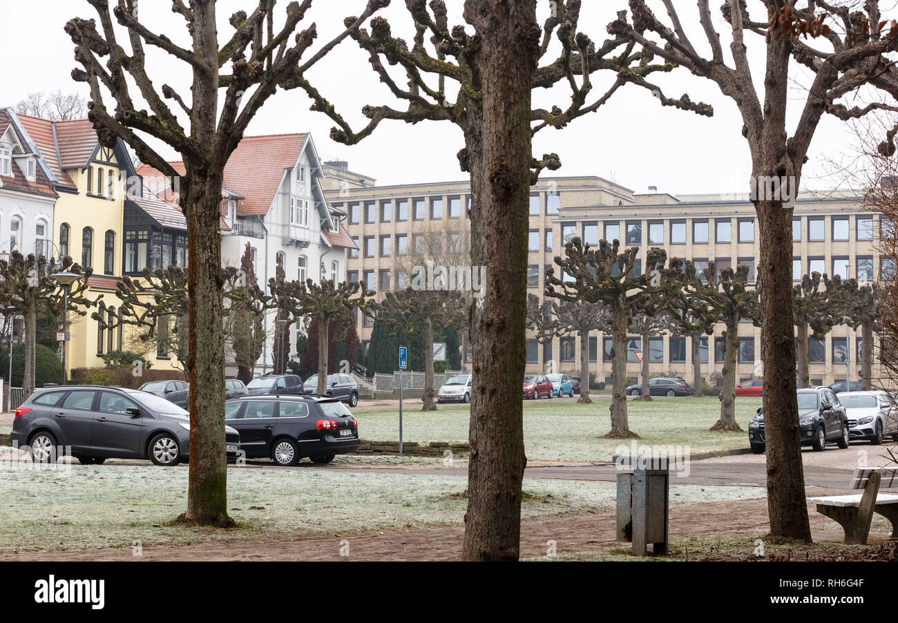01 February 2019, Schleswig-Holstein, Lübeck: View of the Hindenburgplatz, which will be renamed. The citizenship of Lübeck has decided to rename him, as well as two other streets named after historically burdened persons. Photo: Markus Scholz/dpa Stock Photo