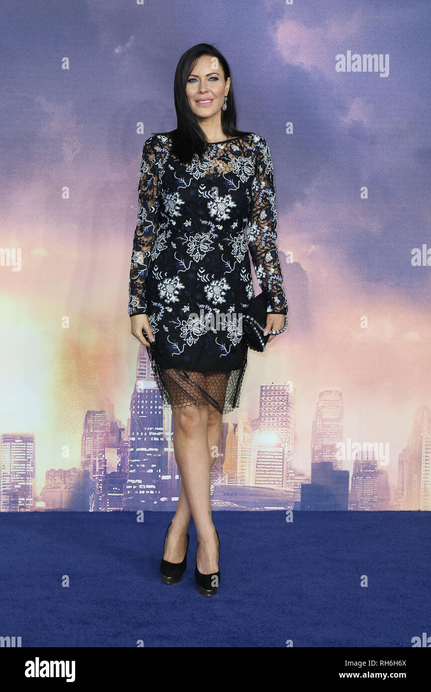 London, UK. 31st Jan 2019. Linzi Stoppard attends Alita Battle Angel World Premiere at Odeon Leicester Square in Central London, UK  Thursday 31st January 2019  Martin Evans/Alamy Live News - Stock Image