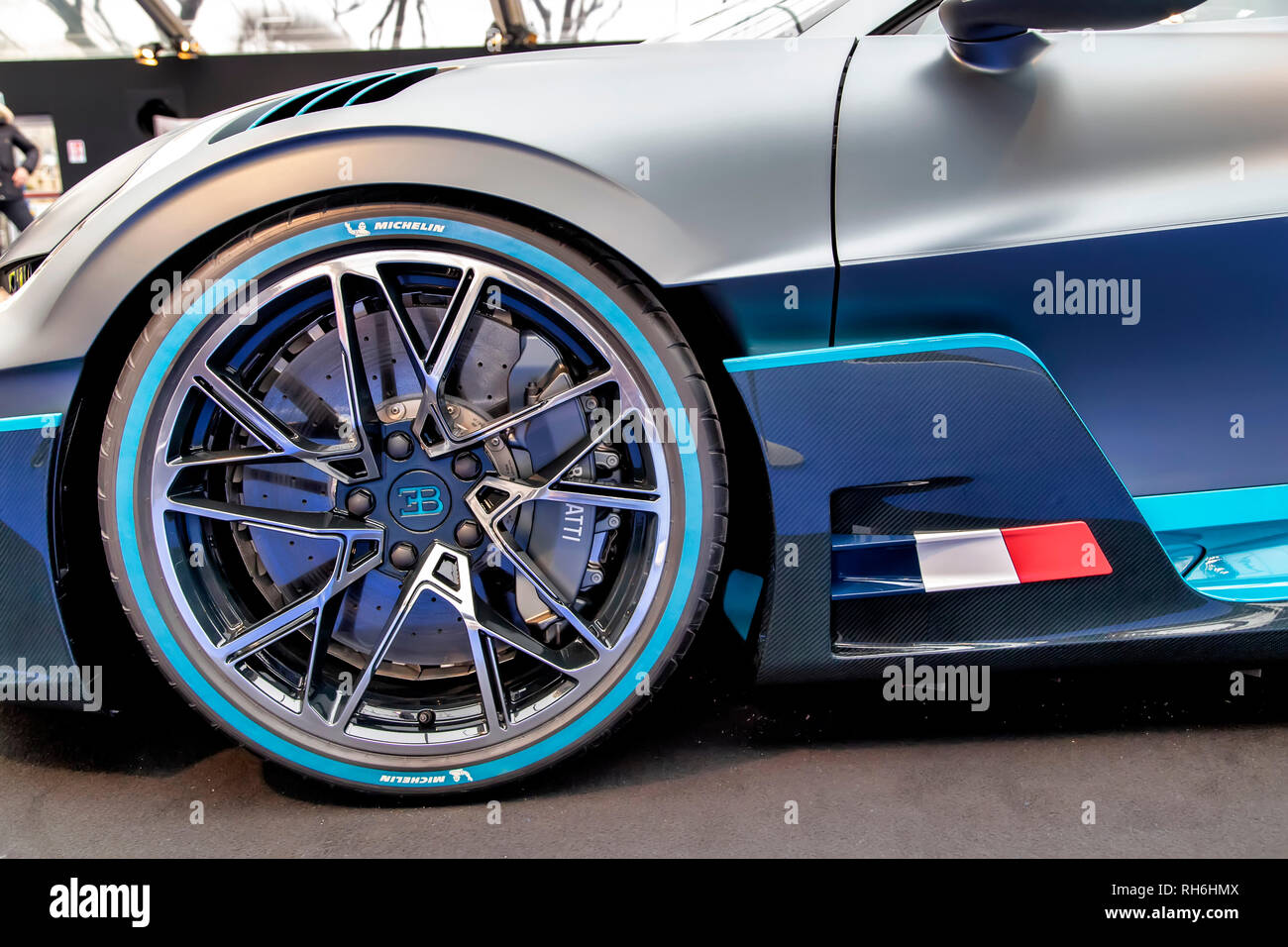 Paris, France. 31st Jan, 2019. Bugatti Divo - The International Automobile Festival brings together in Paris the most beautiful concept cars made by car manufacturers, from January 30th to February 31st, 2019. Credit: Bernard Menigault/Alamy Live News - Stock Image