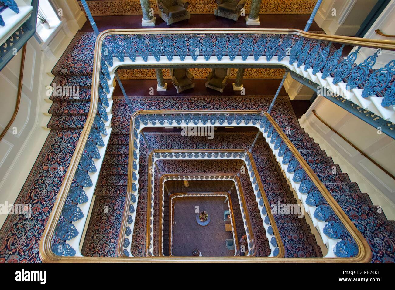 Staircase The Grand Brighton Hotel East Sussex England Stock Photo Alamy