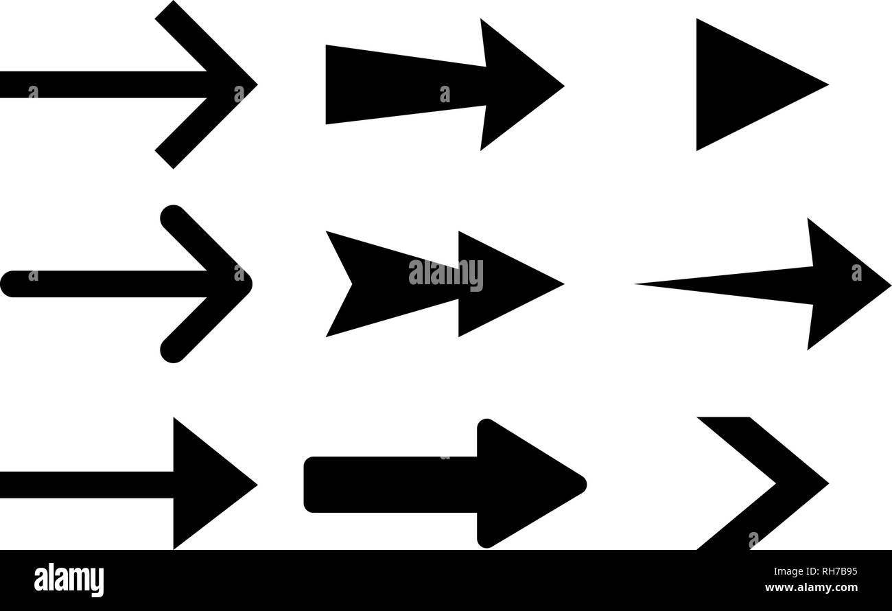 Next arrows. Flat black signs - Stock Image
