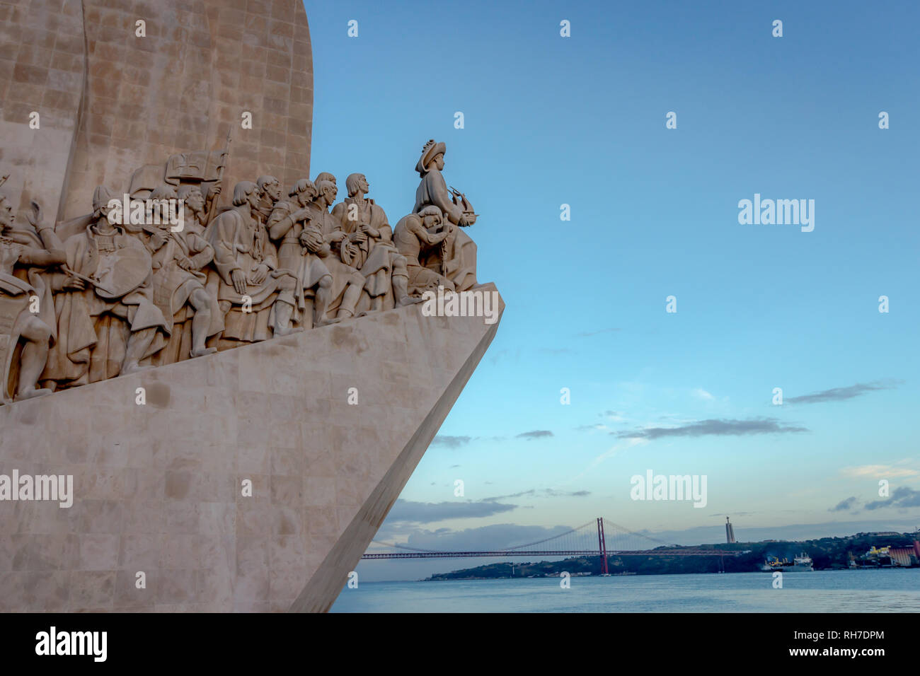 Discoveries monument, Lisbon, Portugal - Stock Image