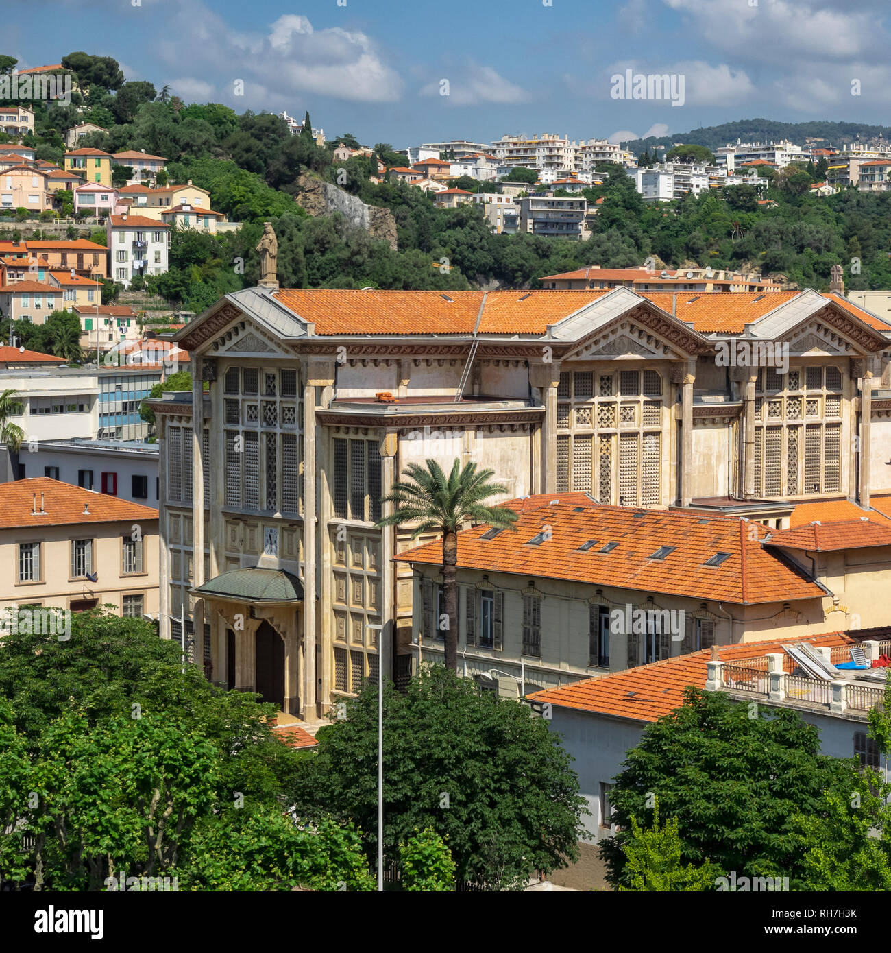 NICE, FRANCE:  Skyline view over the City with its tiled roofs - Stock Image
