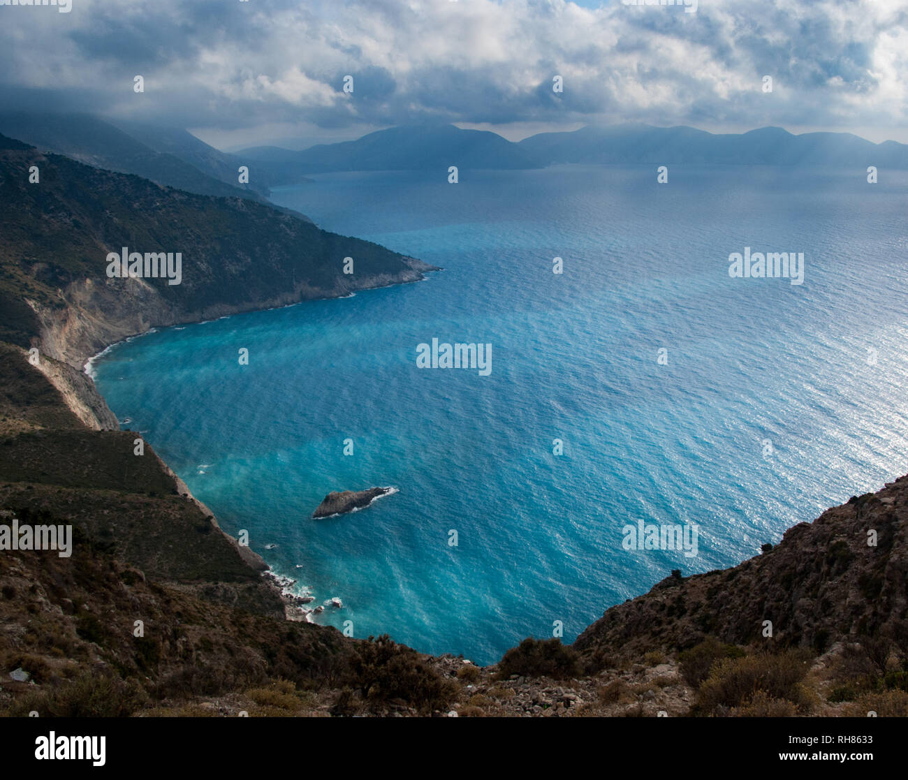 a beach in Kefalonia - Stock Image