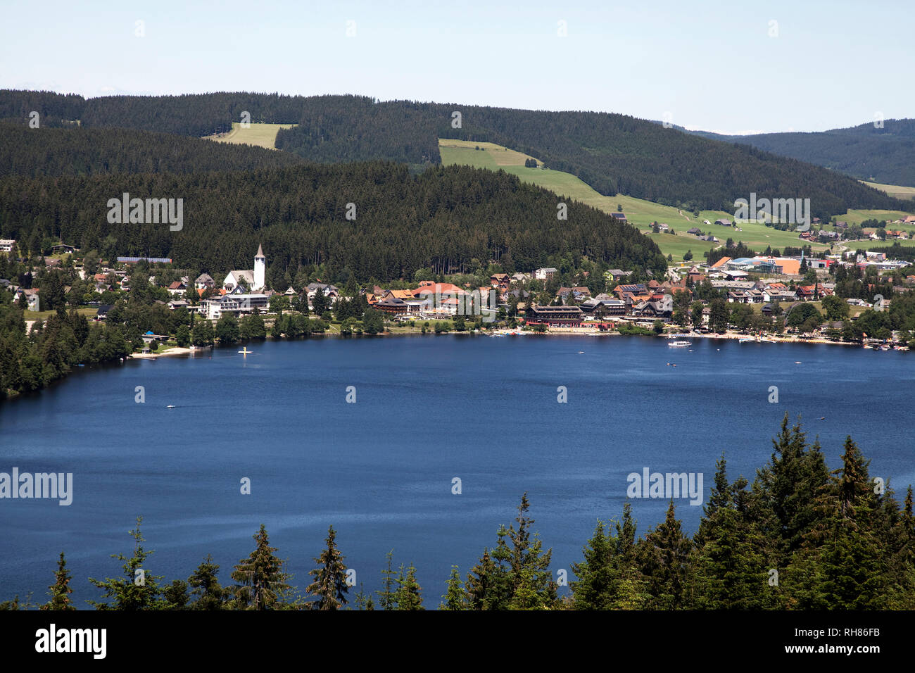 Titisee At Lake Titisee Titisee Neustadt Black Forest Germany Stock Photo Alamy