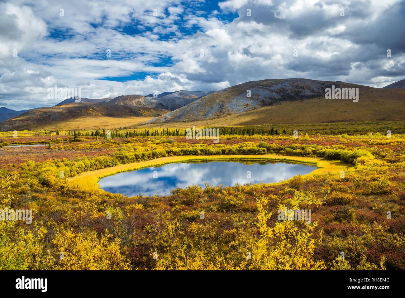 This wonderful Pond is taken in Tombstone Territorial Park, Yukon - Stock Image