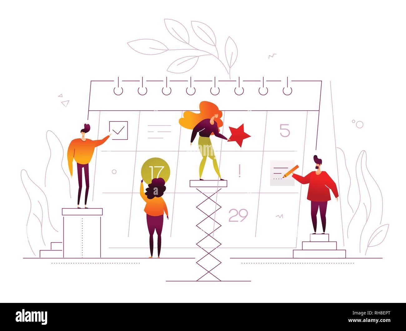 Efficient planning - modern flat design style illustration Stock Vector