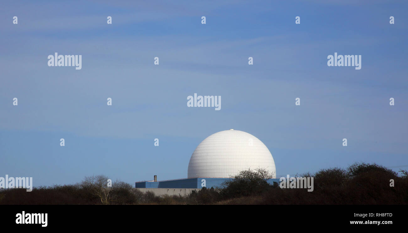 the reactor at sizewell nuclear power plant on the suffolk coast of england - Stock Image