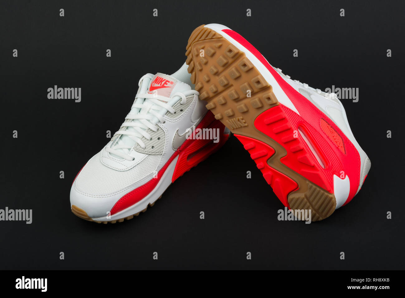 2758010875 BURGAS, BULGARIA - AUGUST 29, 2016: Nike Air MAX women's shoes - sneakers
