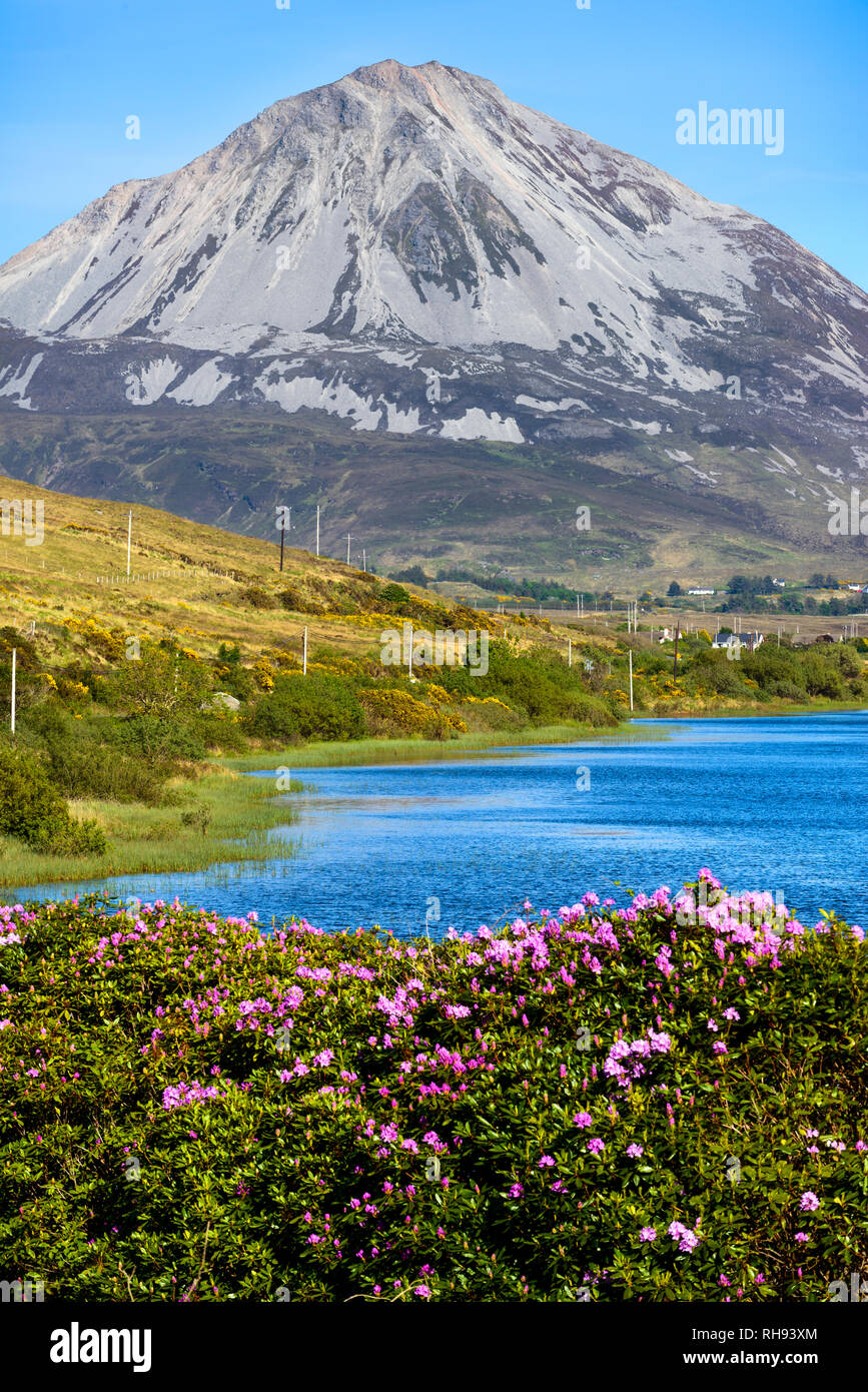 Mount Errigal, Dunlewey, Donegal, Ireland - Stock Image