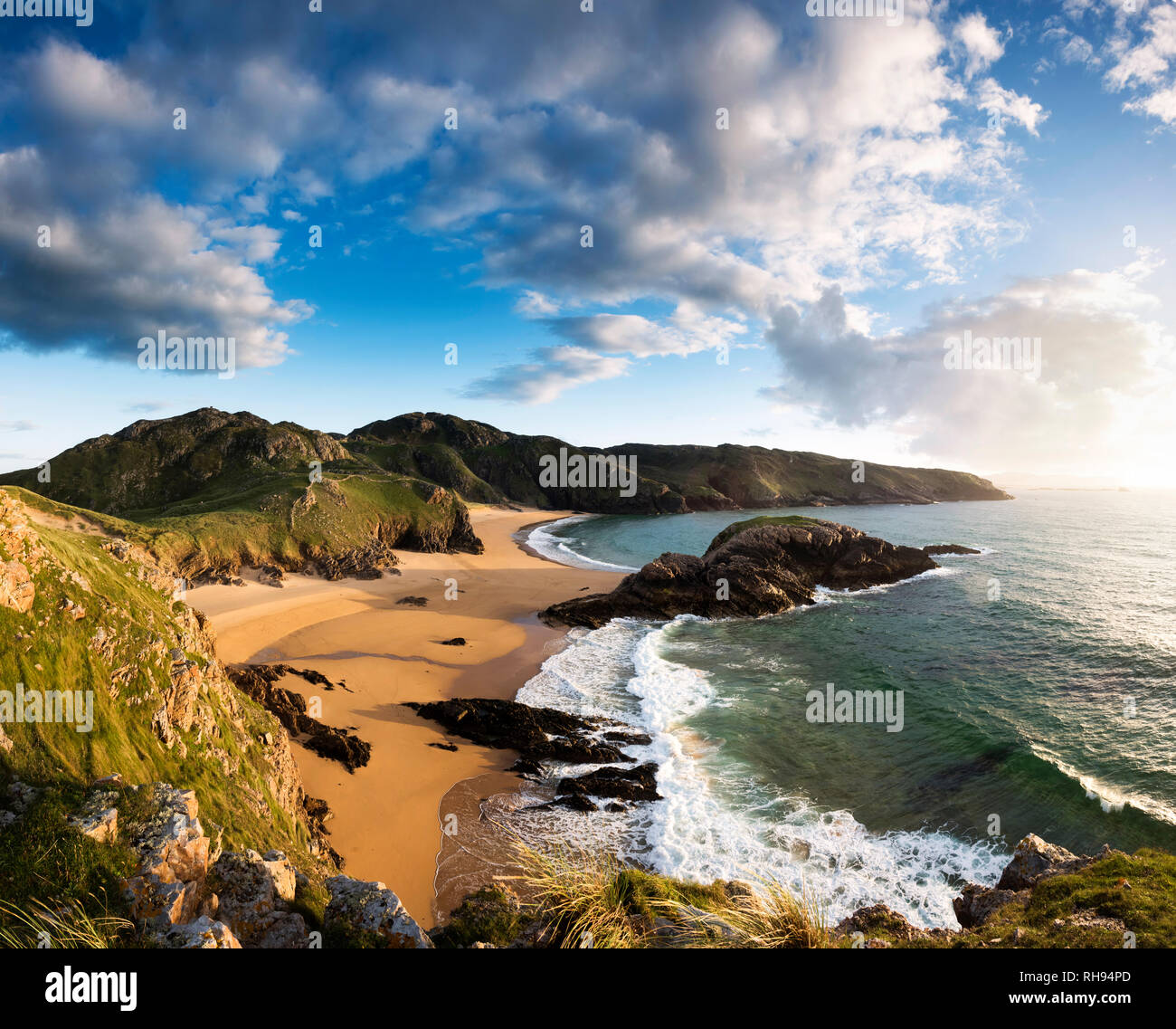 Murder Hole Beach at Boyeeghter Bay, Rosguill, North Donegal - Stock Image