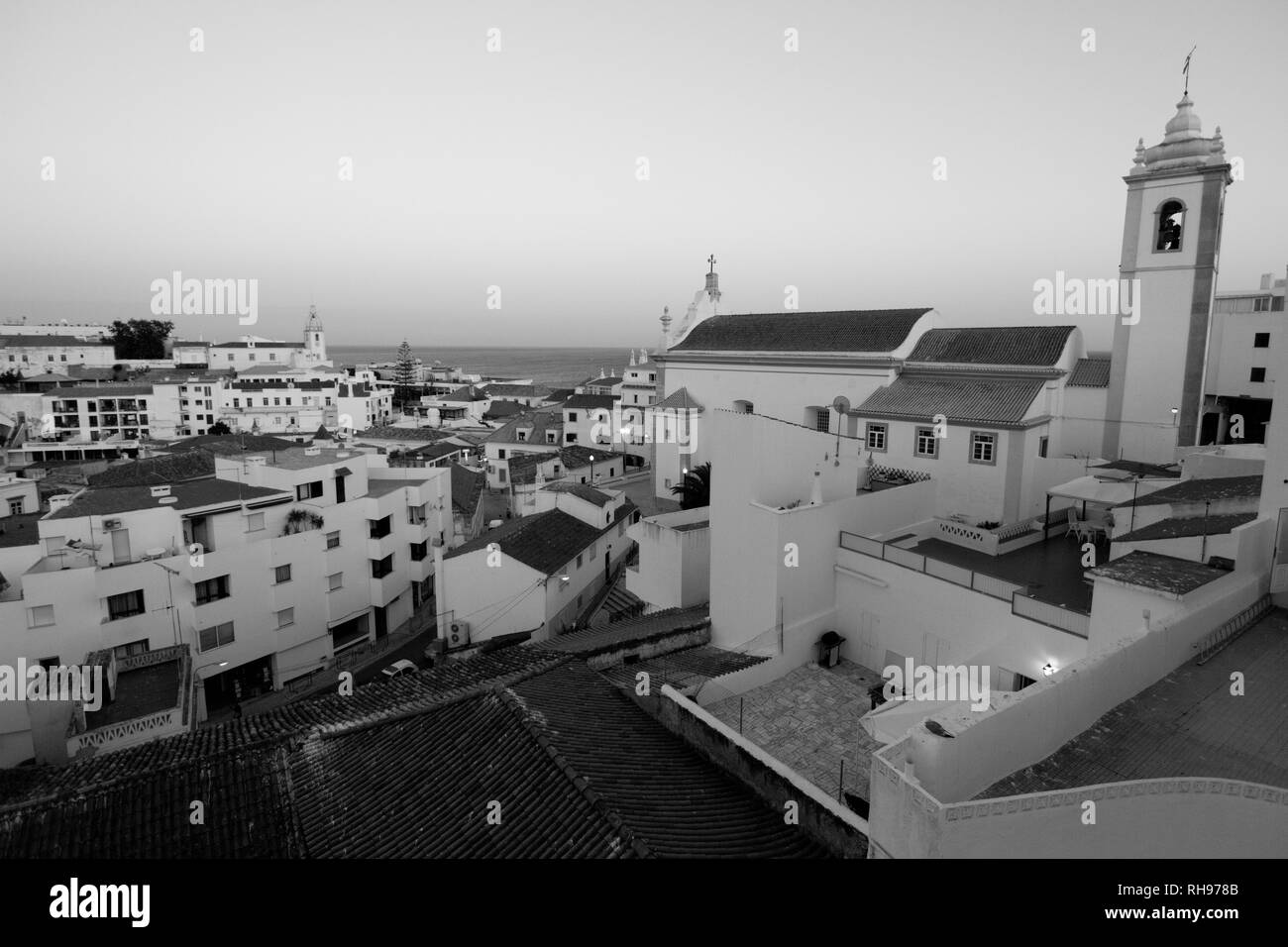 view of Albufeira old town in Portugal - Stock Image