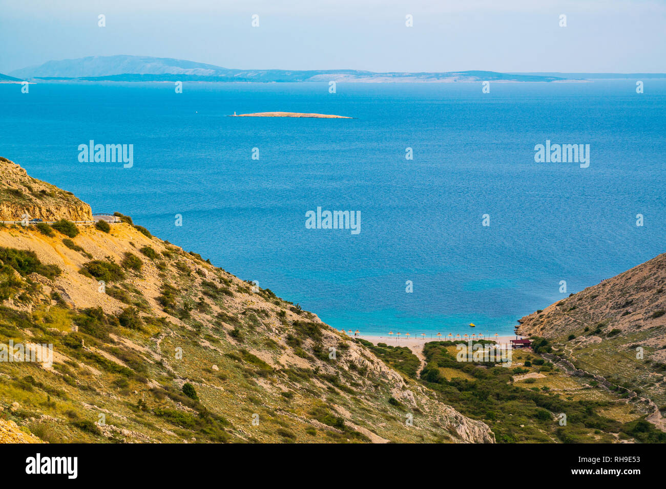 Stara Baska , Krk Island, Adriatic sea, Croatia, Europe - Stock Image