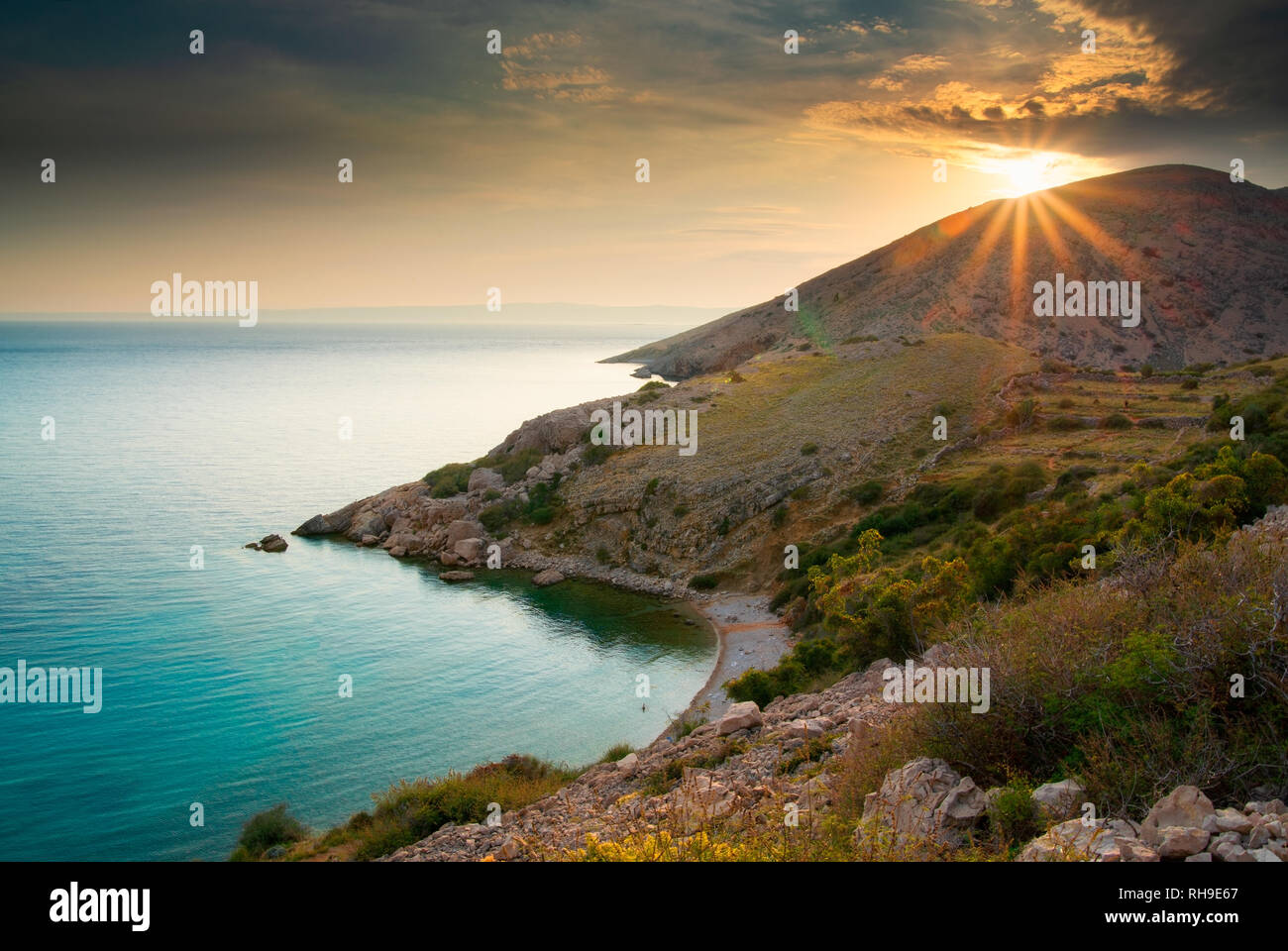 Bay near Stara Baska, Krk Island, Croatia - Stock Image