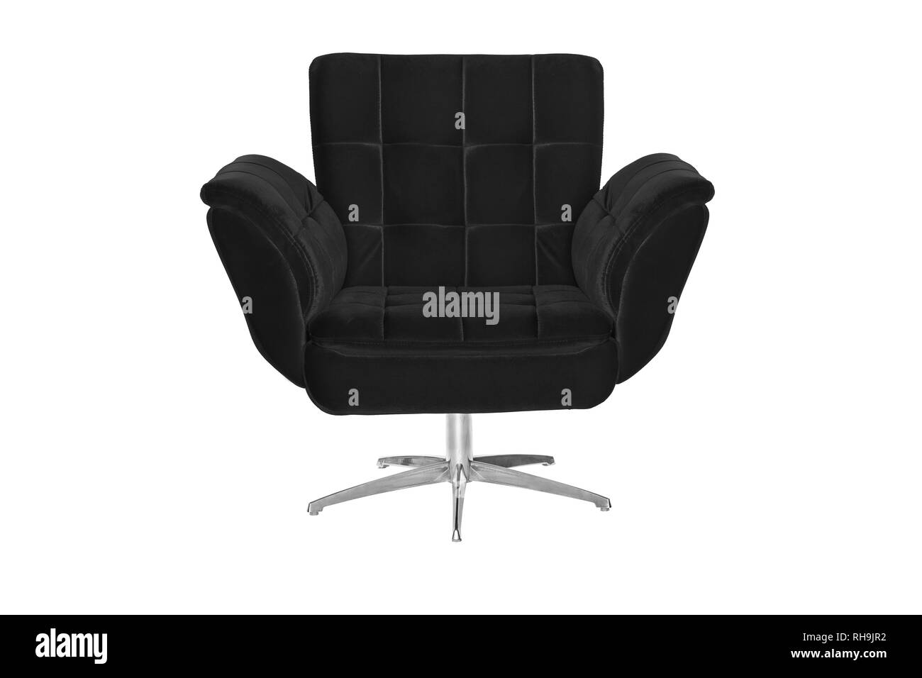 armchair. Modern designer chair on white background. Texture chair. - Stock Image