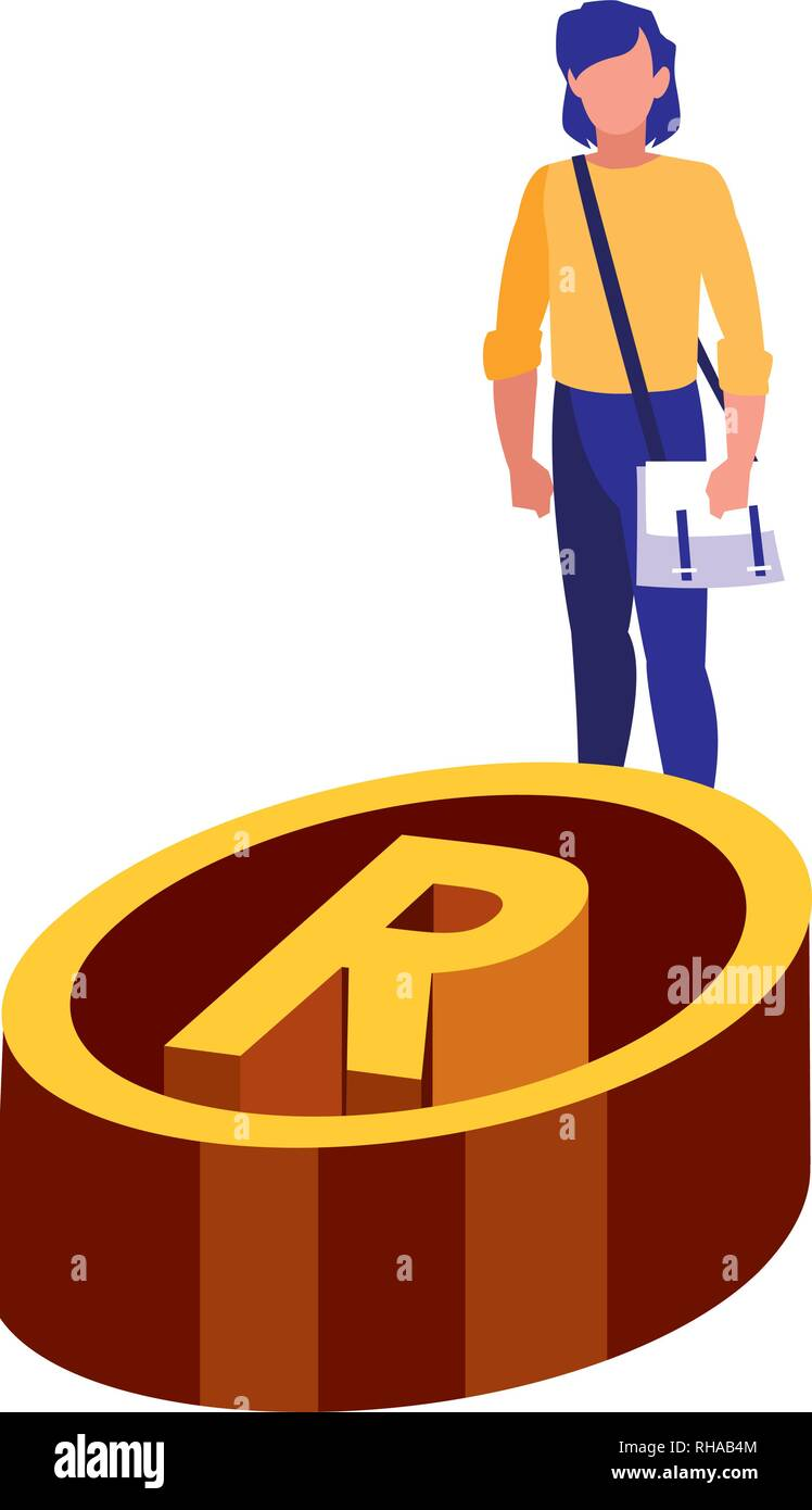 authorship woman registered copyright sign vector illustration - Stock Image