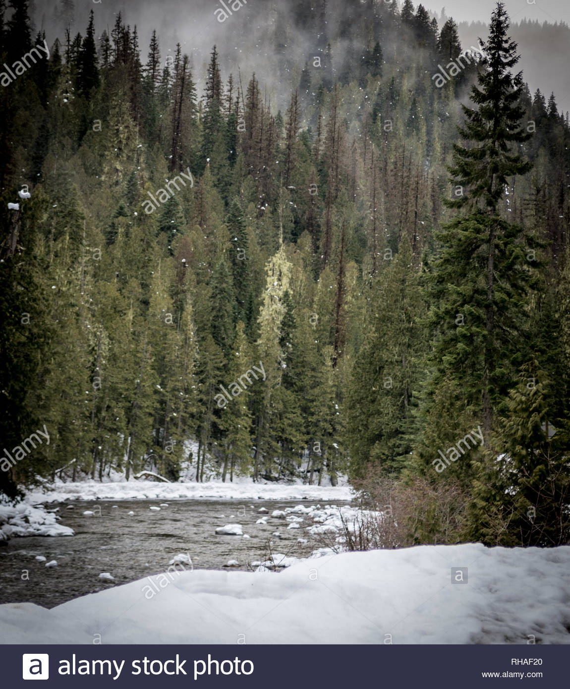 Travel more. Montana mountains. - Stock Image