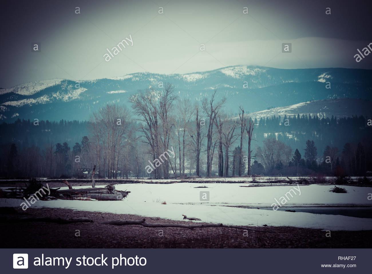 Traveling Montana. - Stock Image
