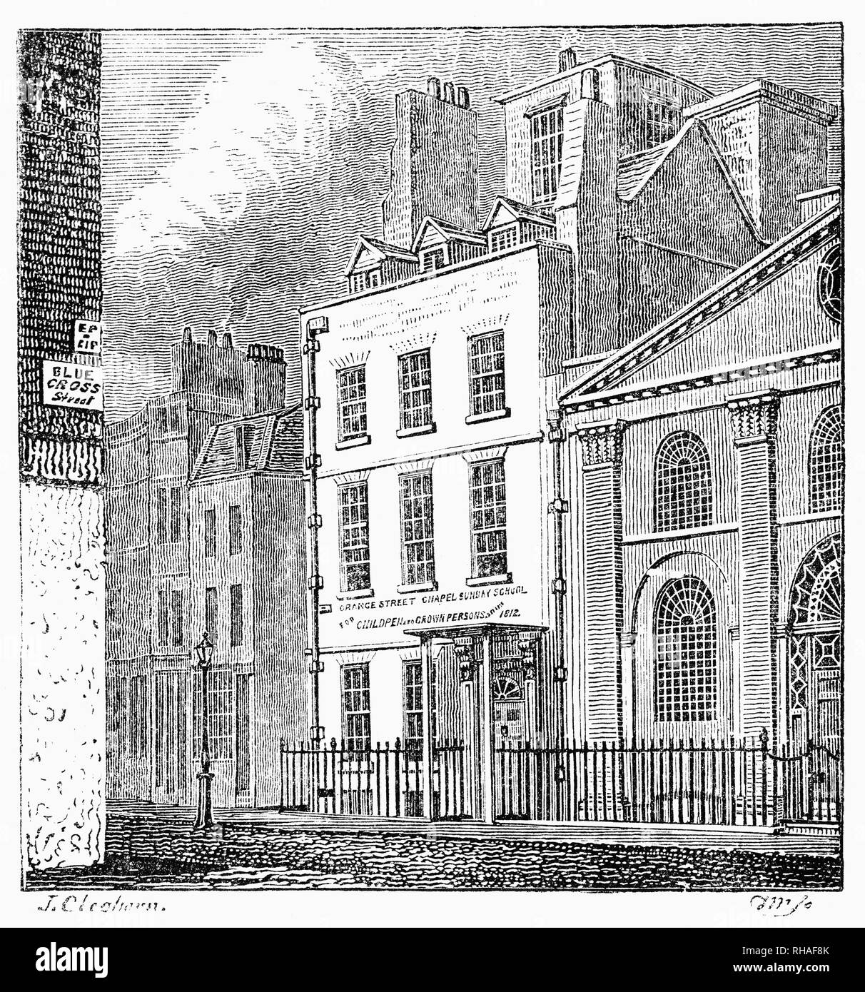 Sir Isaac Newton's house in Islington, London.  Newton FRS PRS (1642-1726/27) was an English mathematician, physicist, astronomer, theologian widely recognised as one of the most influential scientists of all time, and a key figure in the scientific revolution. In his book 'Mathematical Principles of Natural Philosophy', first published in 1687, Newton formulated the laws of motion and universal gravitation, the laws of planetary motion, account for tides, the trajectories of comets, the precession of the equinoxes and other phenomena. - Stock Image