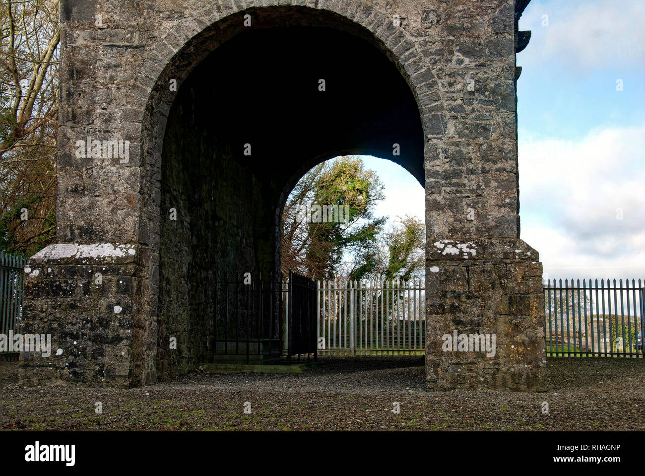 Conolly's Folly,The Obelisk,originally The Conolly Folly,is an obelisk structure and National Monument located near Maynooth,County Kildare,Ireland. - Stock Image