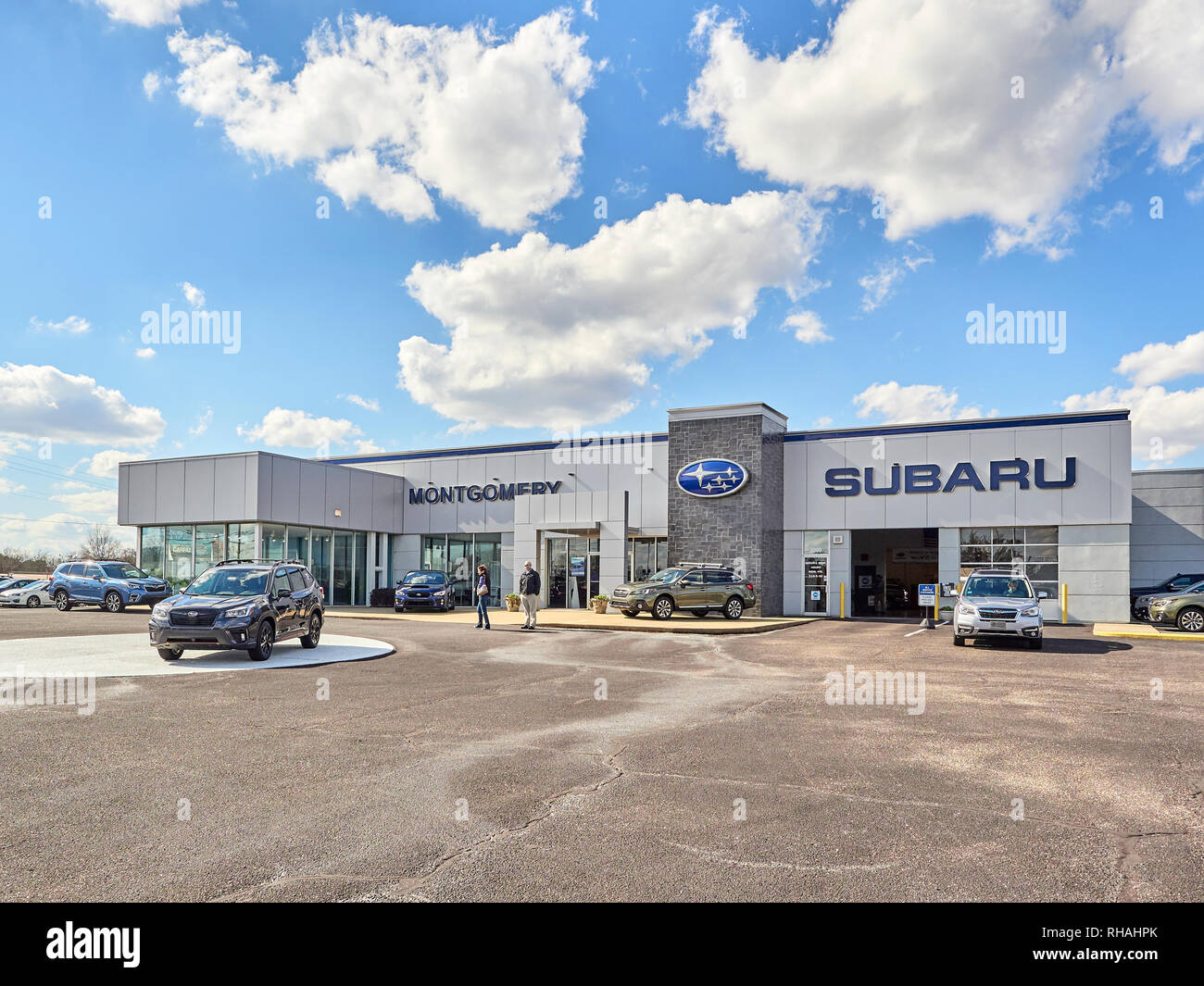 Used Car Dealerships In Montgomery Al >> Front Exterior Of A Subaru New And Used Car Dealership With